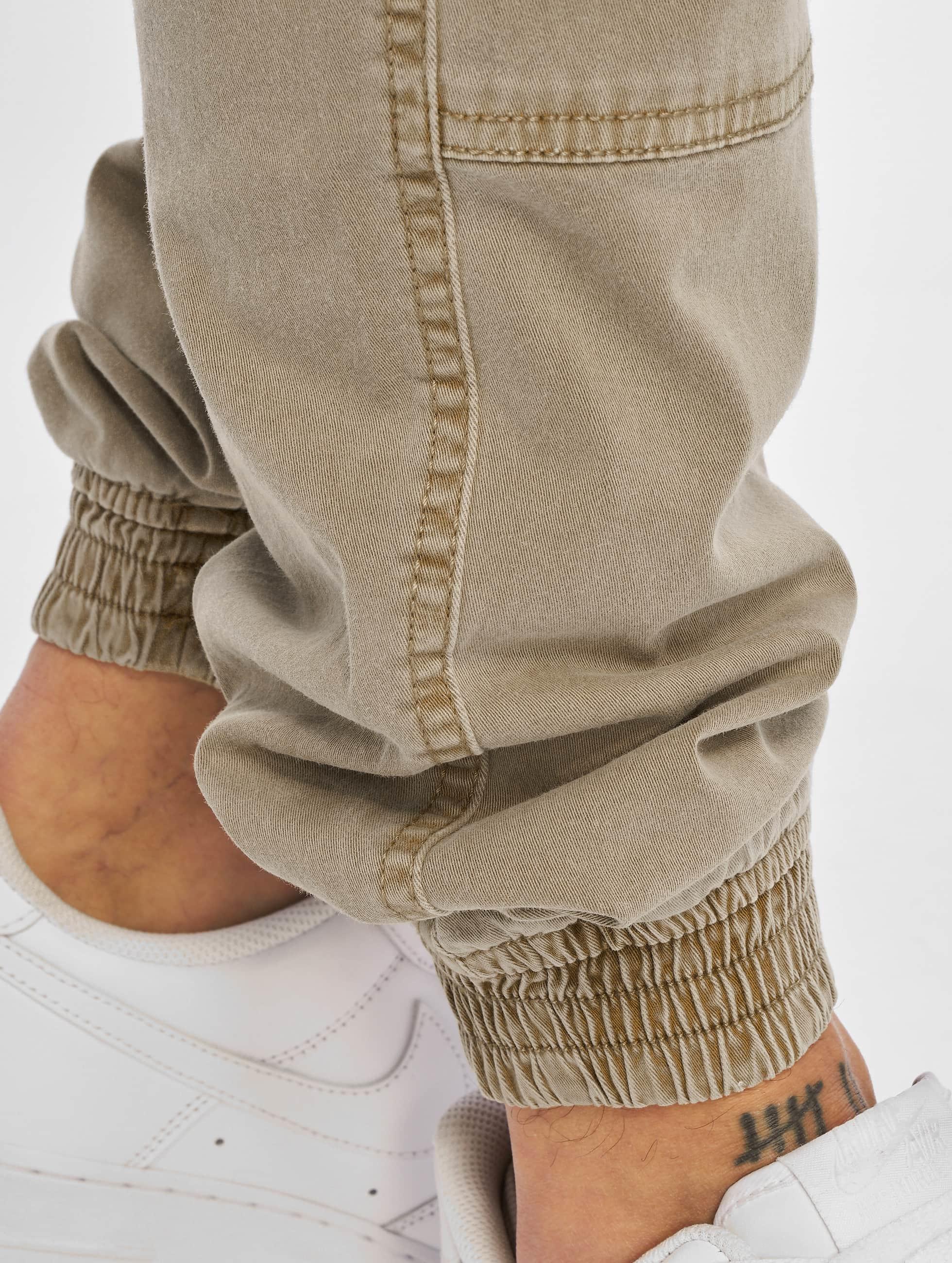 Urban Classics Pantalon cargo Washed Cargo Twill Jogging beige