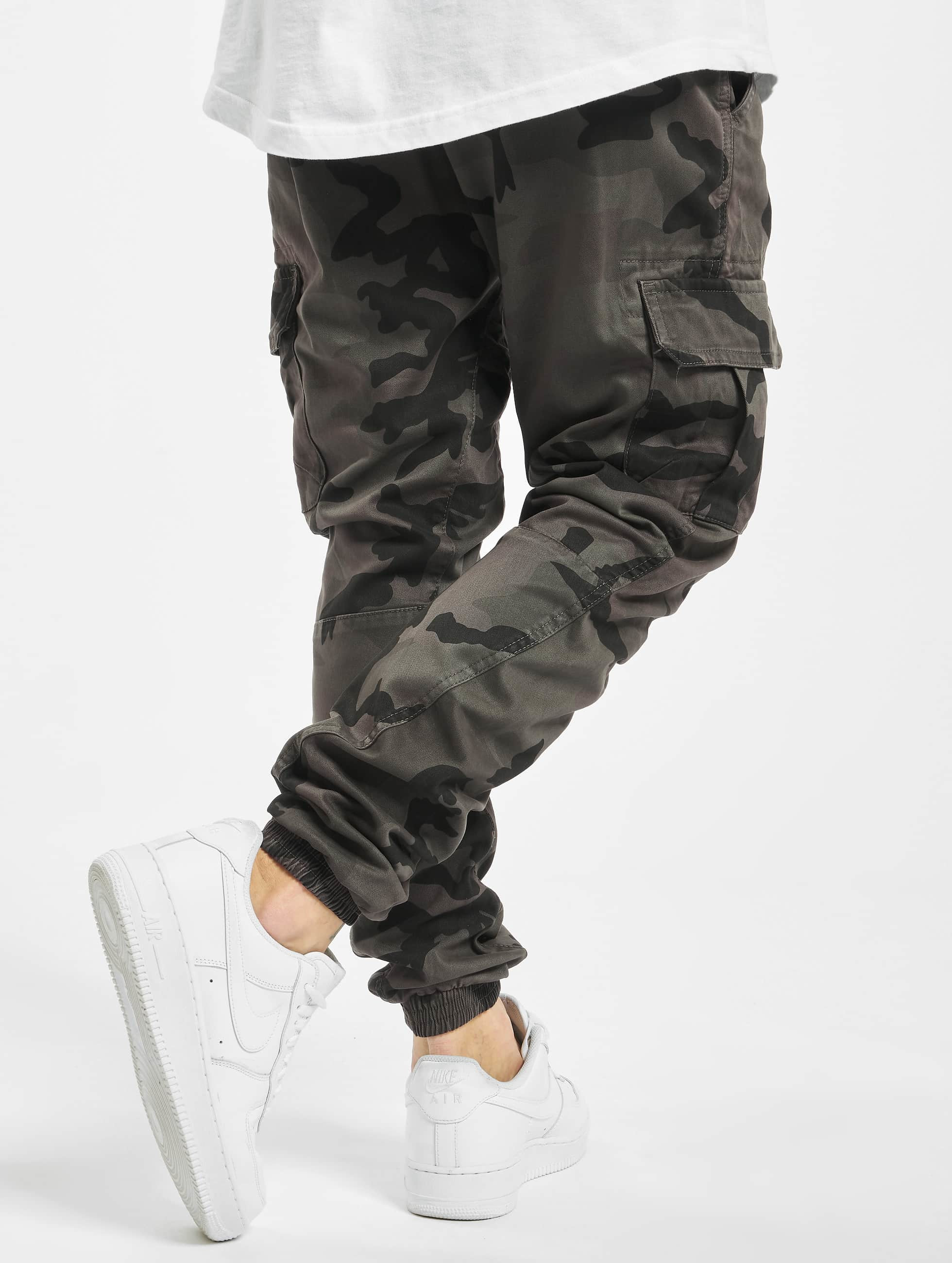 urban classics camo gris homme pantalon cargo urban. Black Bedroom Furniture Sets. Home Design Ideas