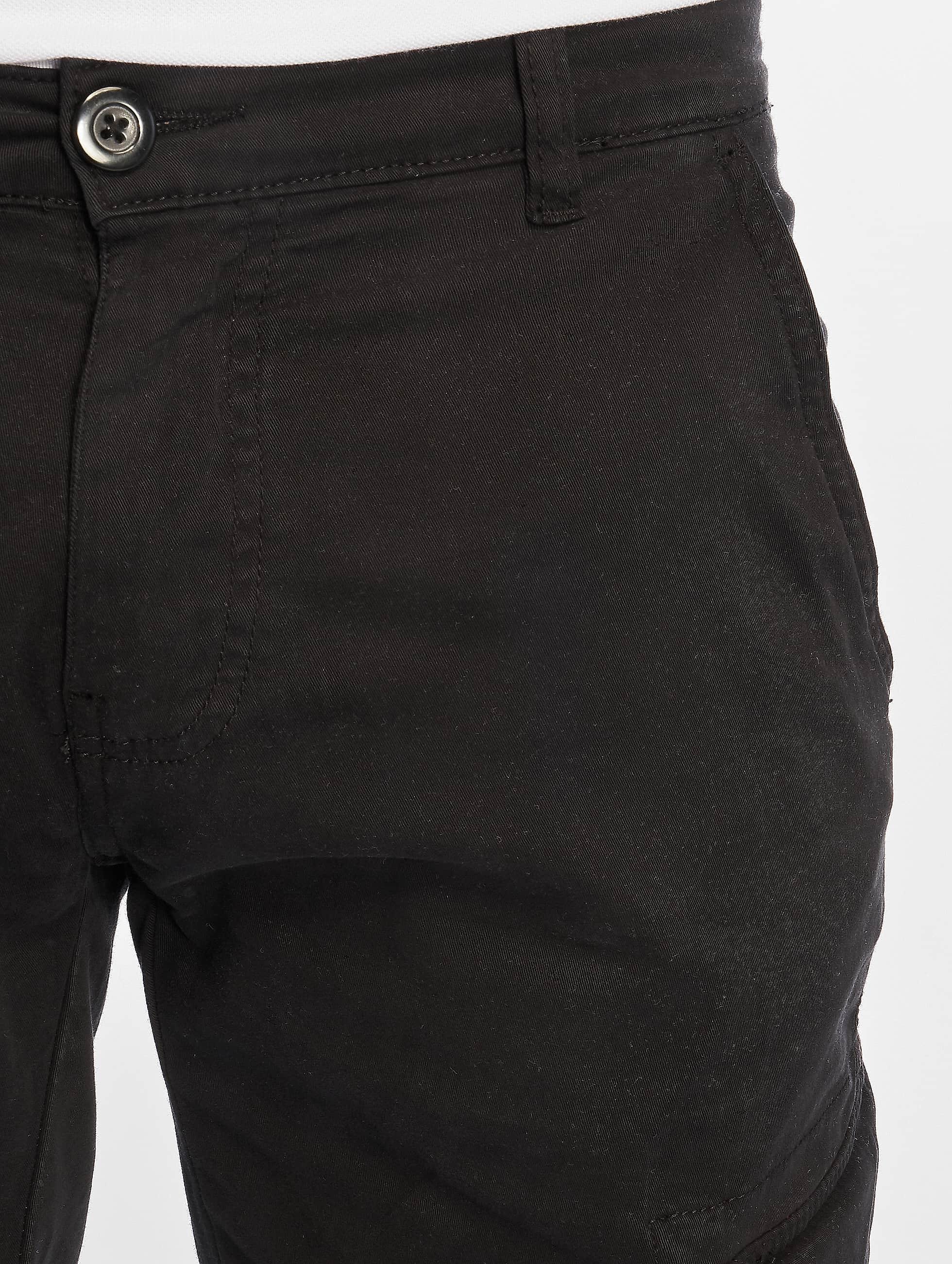 Urban Classics Pantalon cargo Washed Cargo Twill Jogging noir
