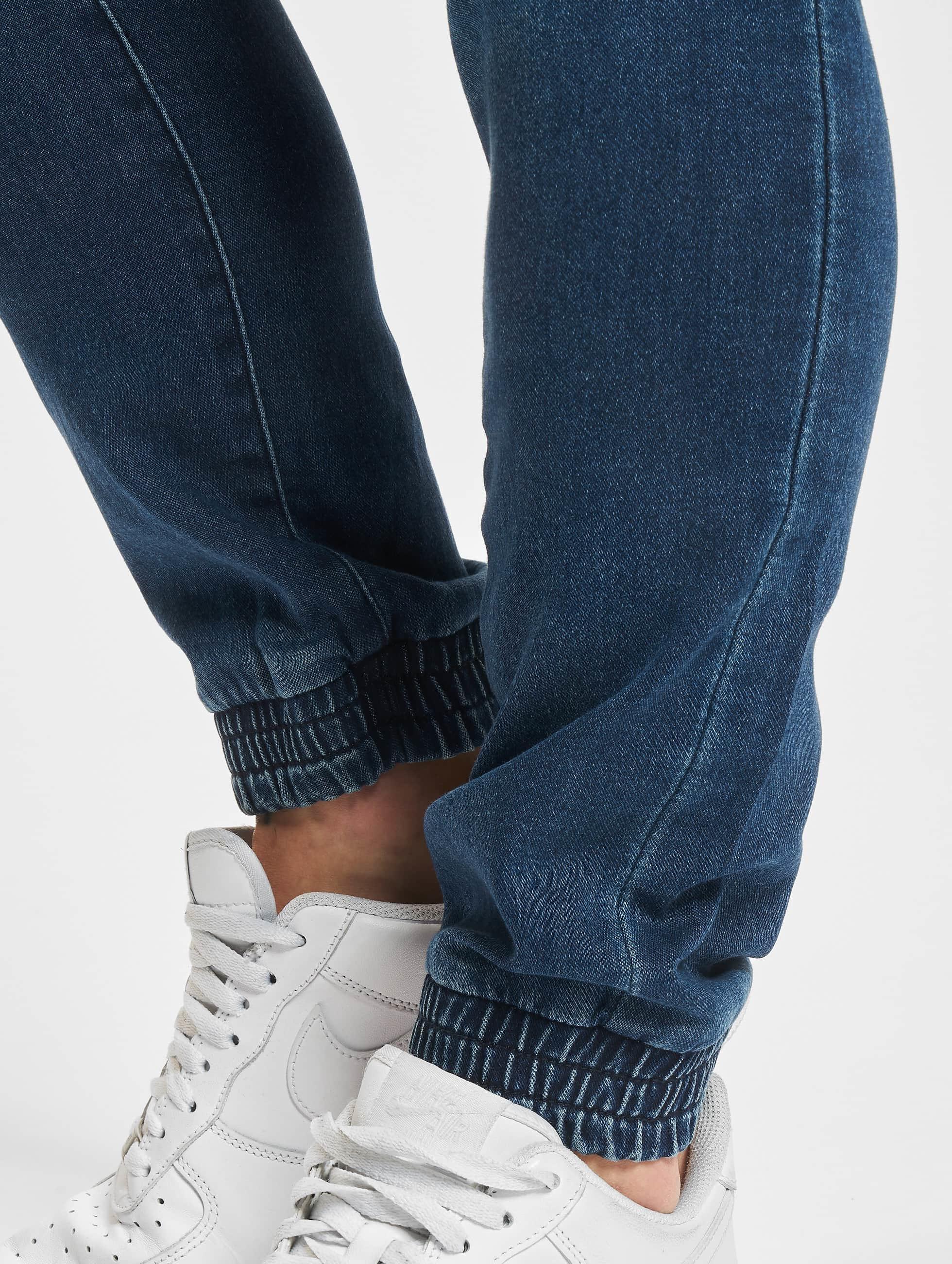 Urban Classics Pantalone ginnico Knitted Denim blu