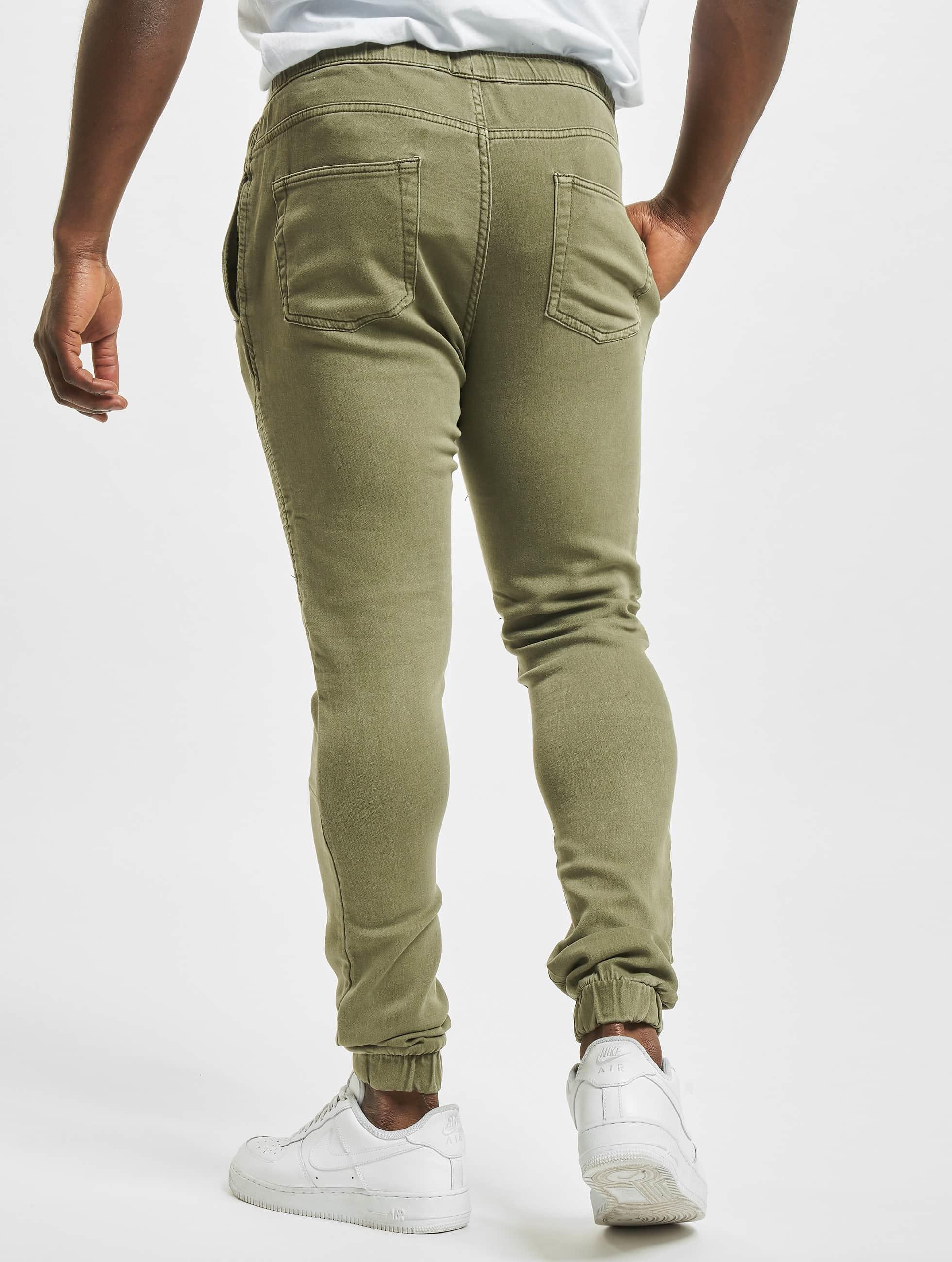 Urban Classics Pantalone ginnico Biker oliva
