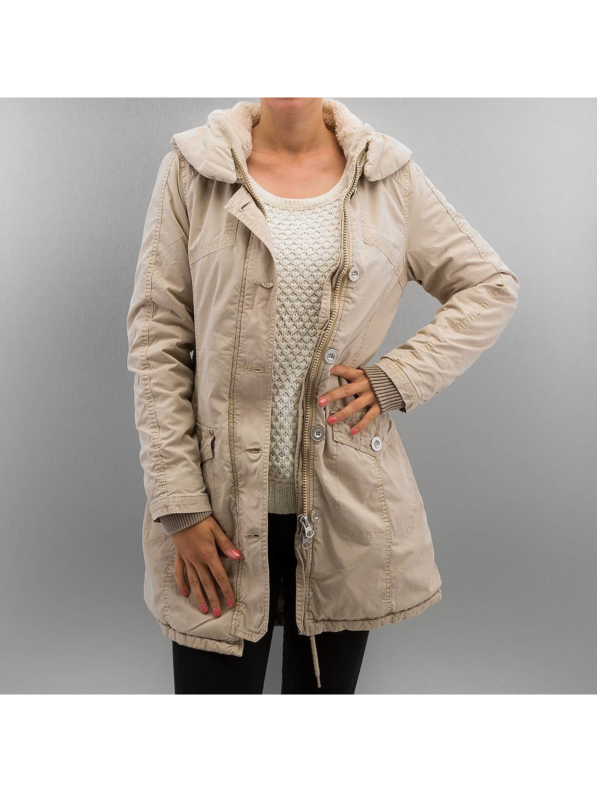 Urban Classics Parka Garment Washed Long beige