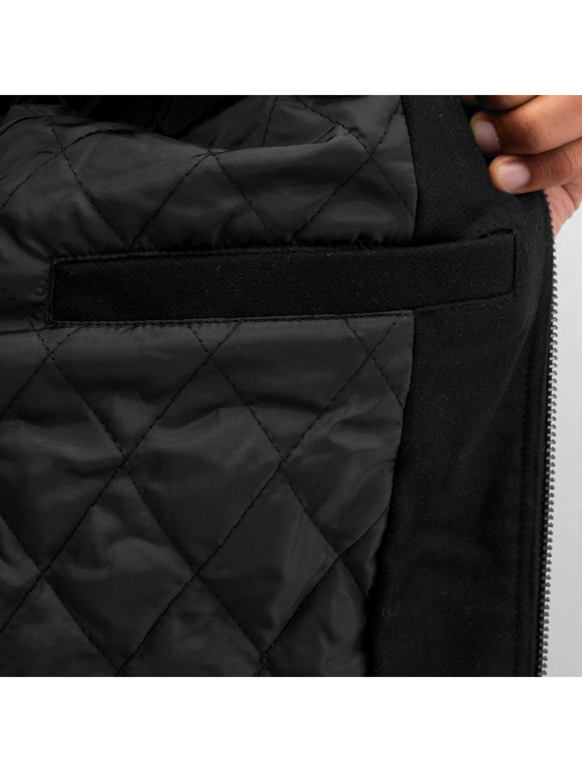 Urban Classics Pilottitakit Diamond Nylon Wool musta