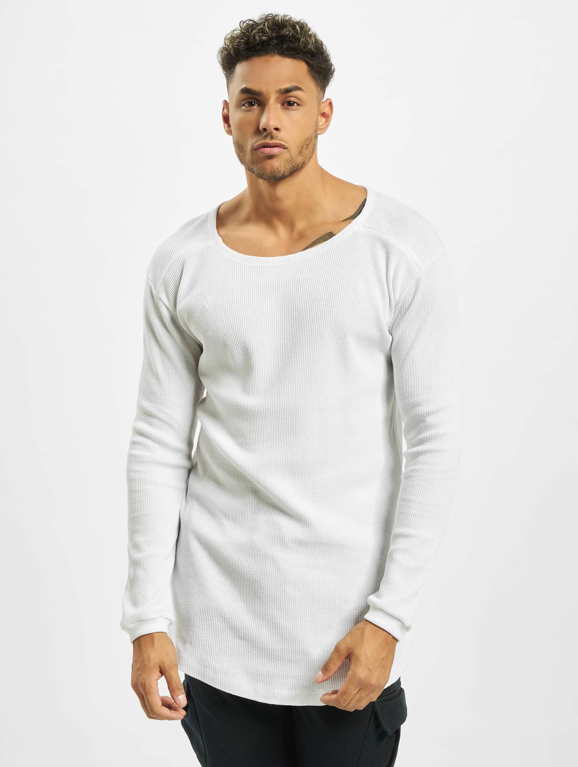 Urban Classics Pitkähihaiset paidat Long Shaped Waffle valkoinen