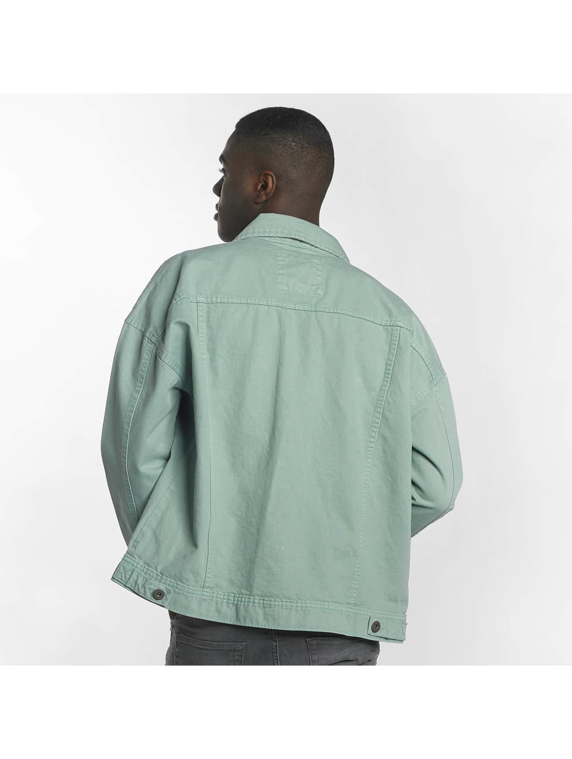 Urban Classics Prechodné vetrovky Garment Dye Oversize tyrkysová