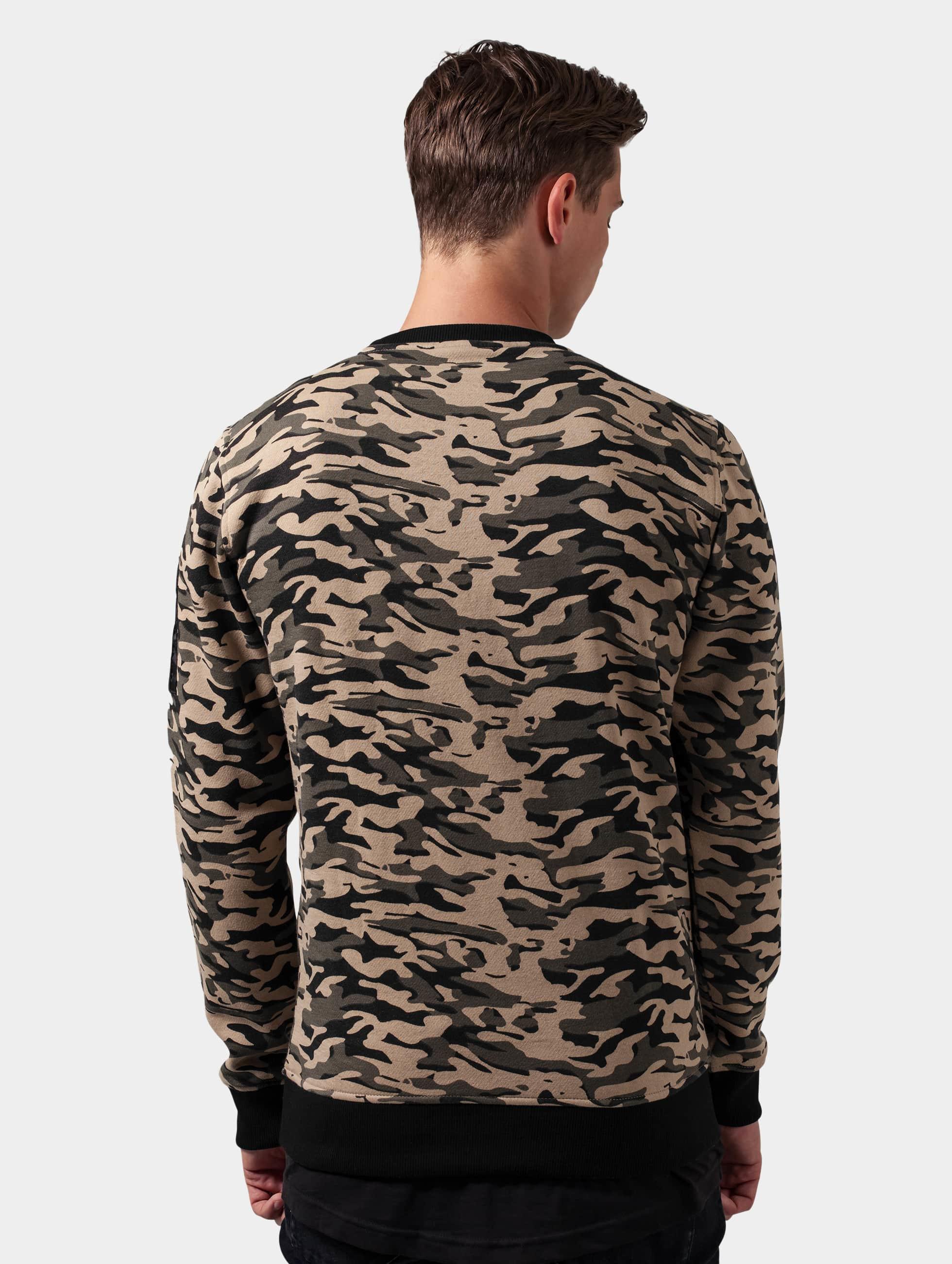 Urban Classics Pullover Sweat Camo Bomber camouflage