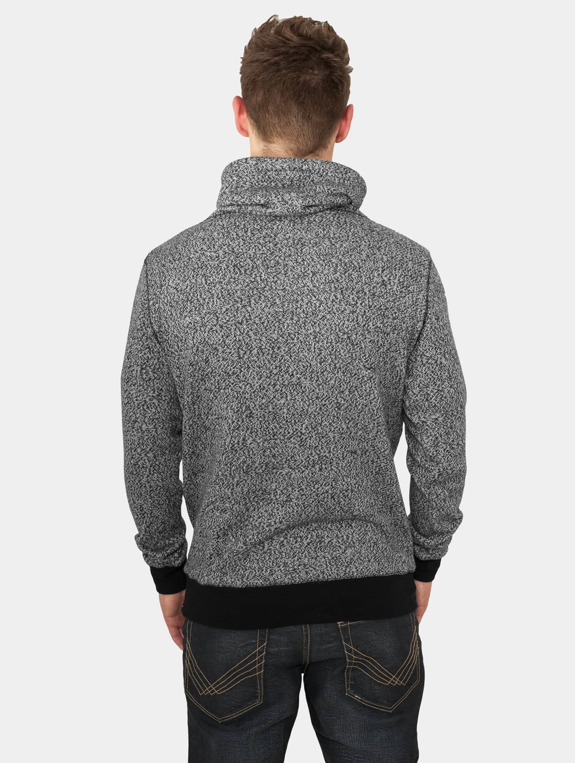 Urban Classics Pullover Melange High Neck Knitted grau