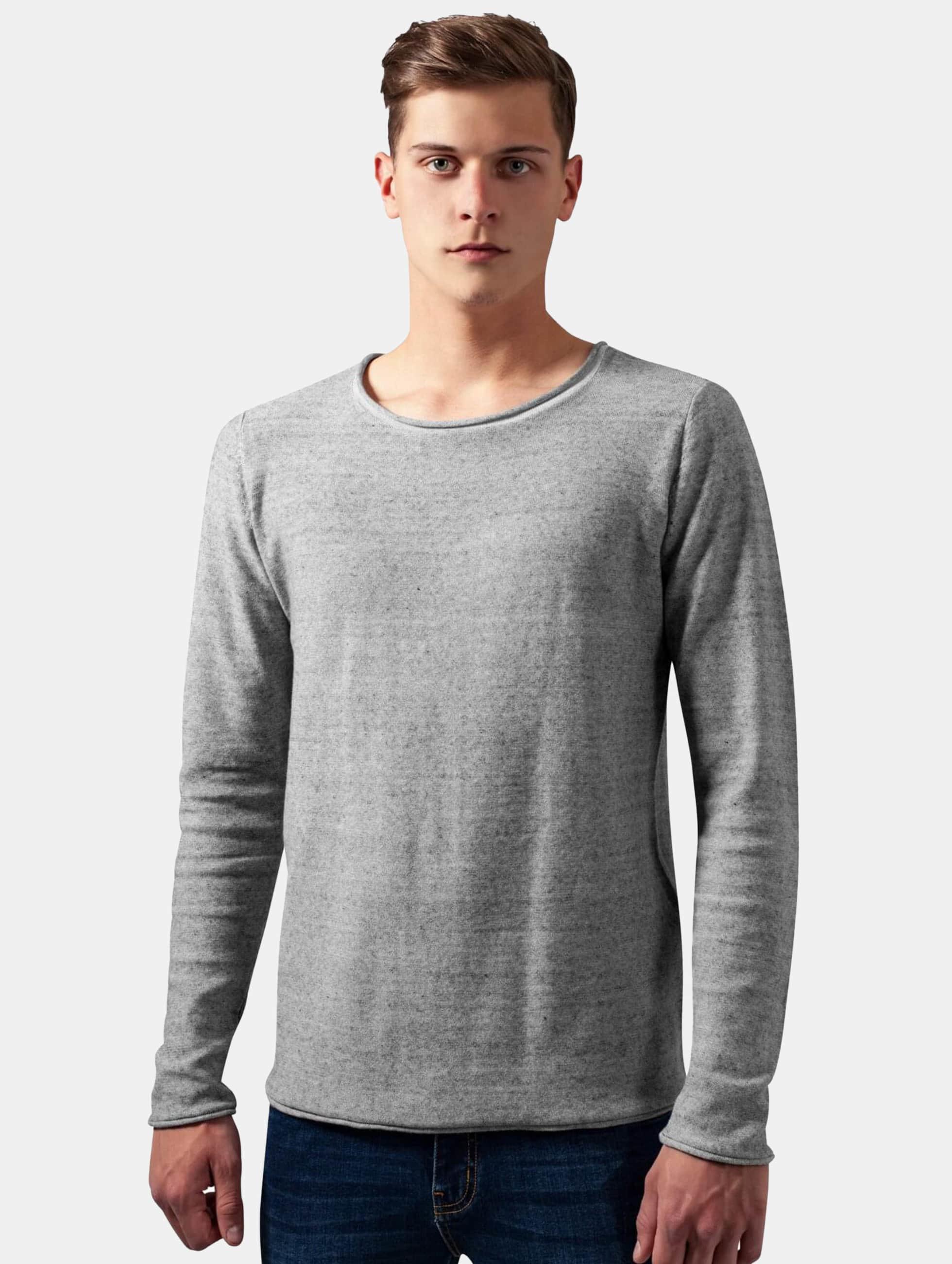 Urban Classics Pullover Fine Knit grau