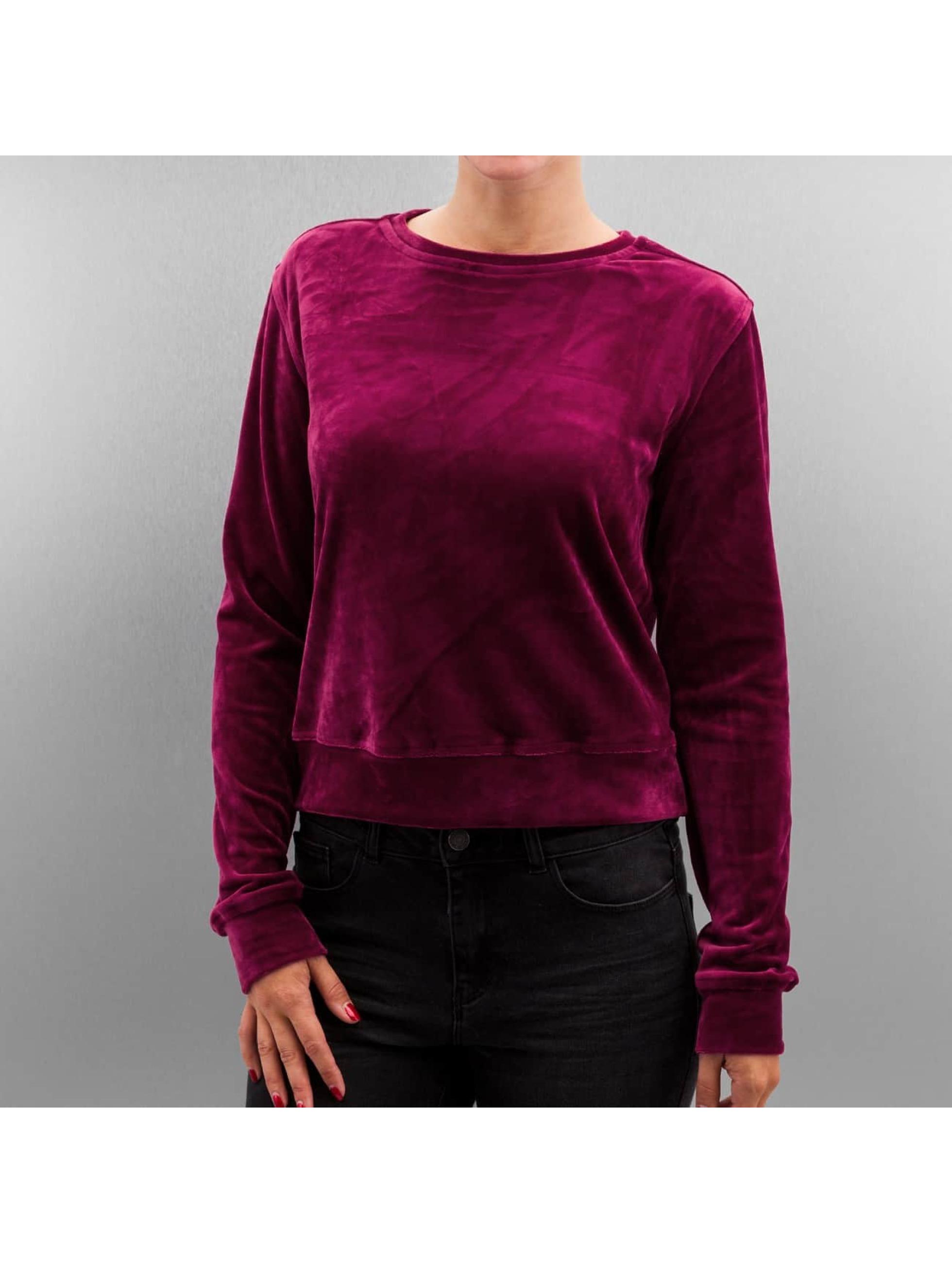 Pullover Ladies Short Velvet in rot