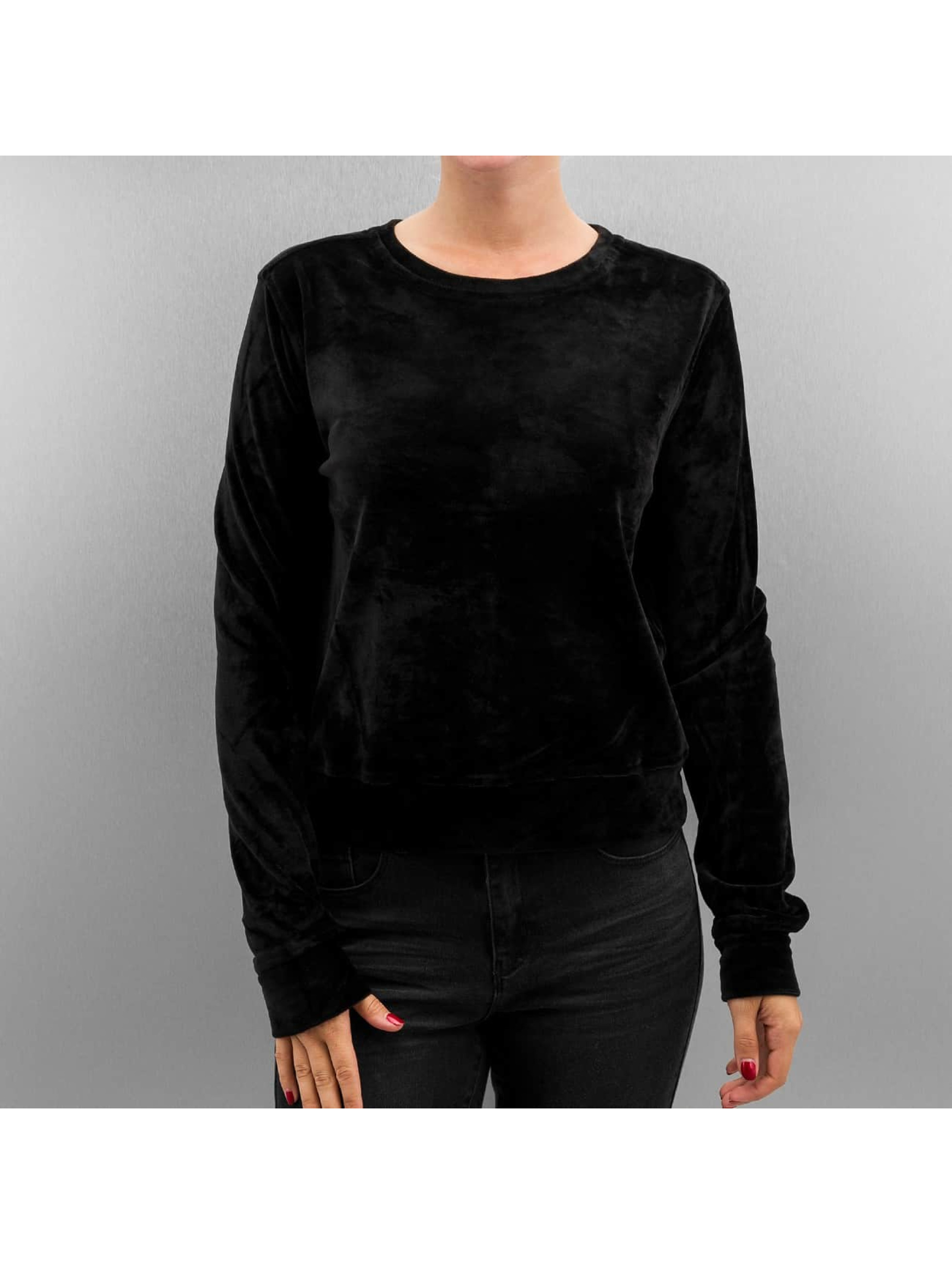 Pullover Ladies Short Velvet in schwarz