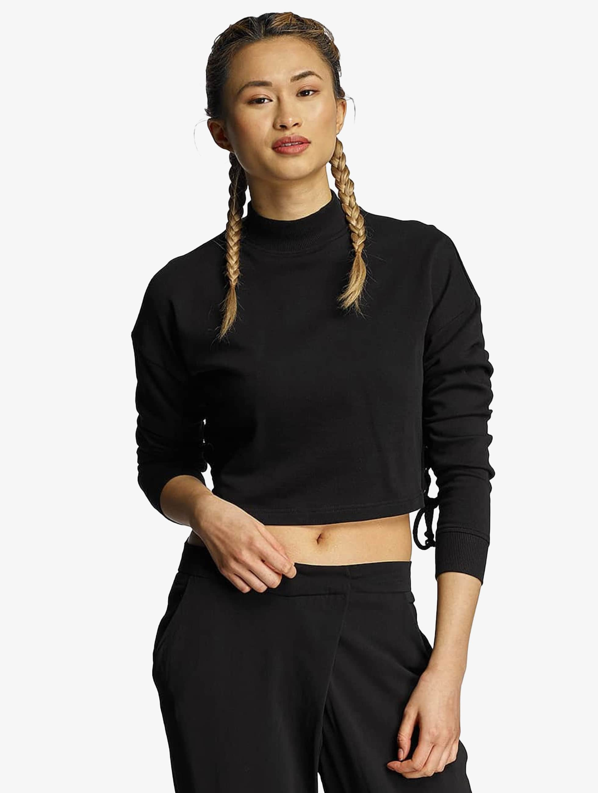 Urban Classics Pullover Lace Up schwarz