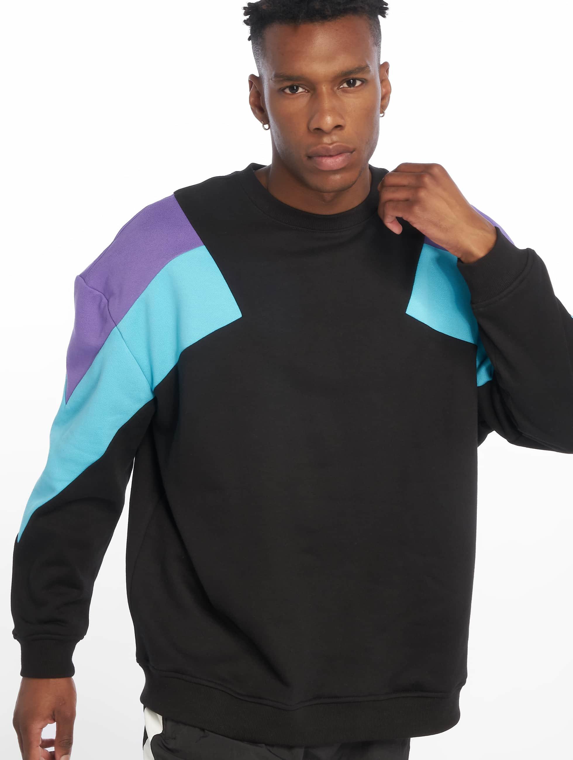 Urban Classics Oversize 3 Tone Sweatshirt WhiteBright BlueFire Red