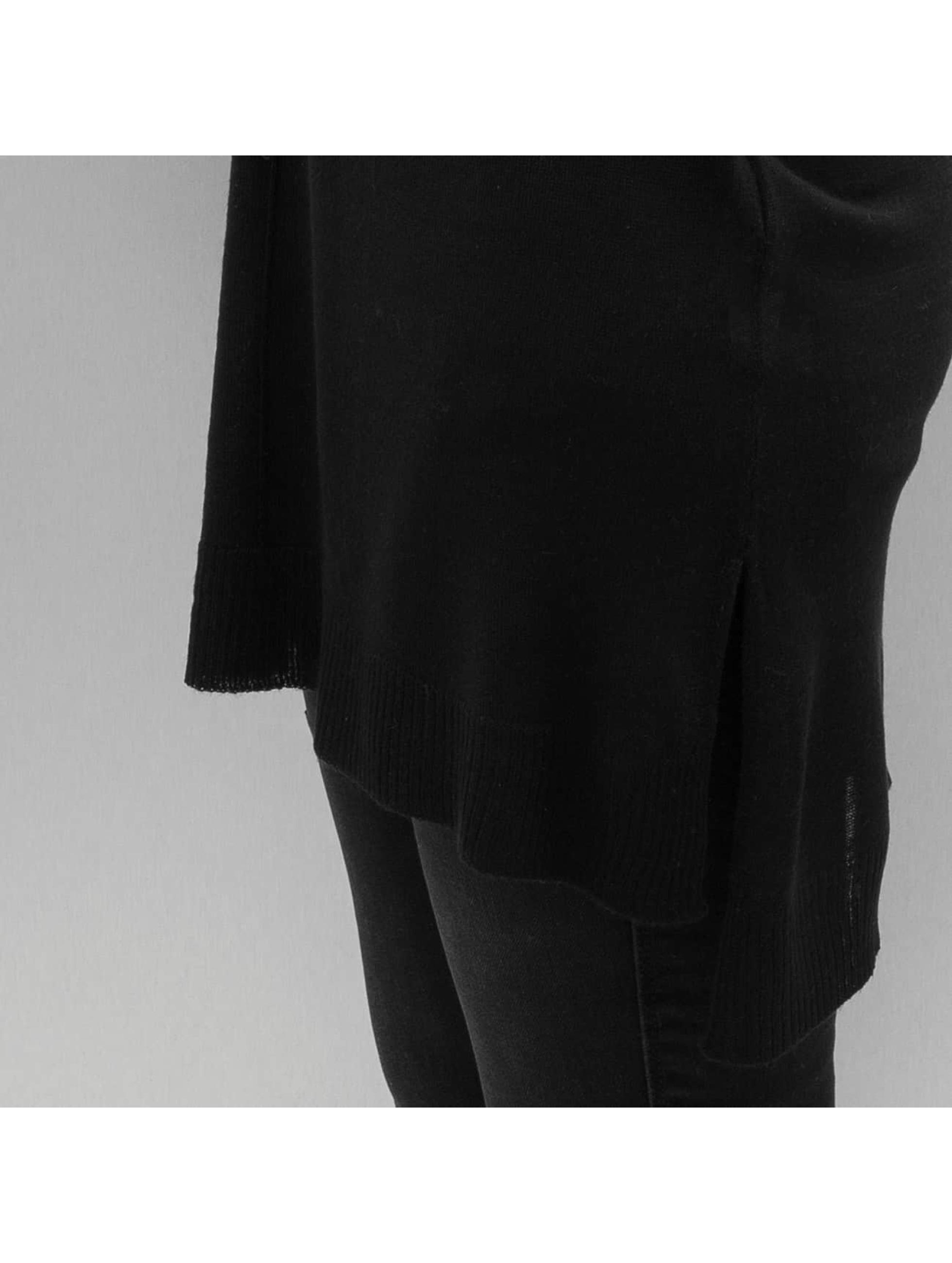 Urban Classics Pulóvre Ladies Fine Knit Oversize V-Neck èierna