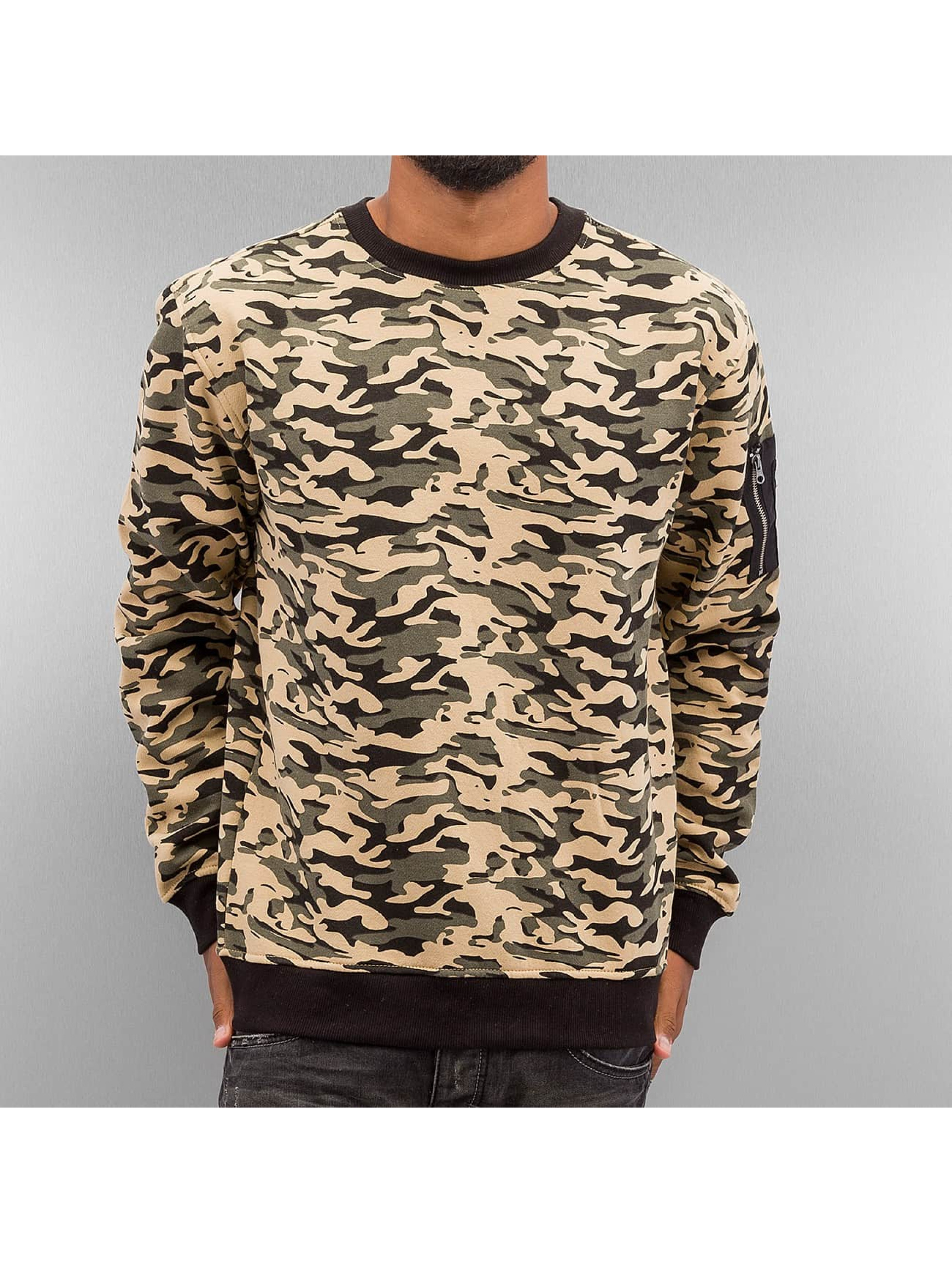Urban Classics Puserot Sweat Camo Bomber camouflage