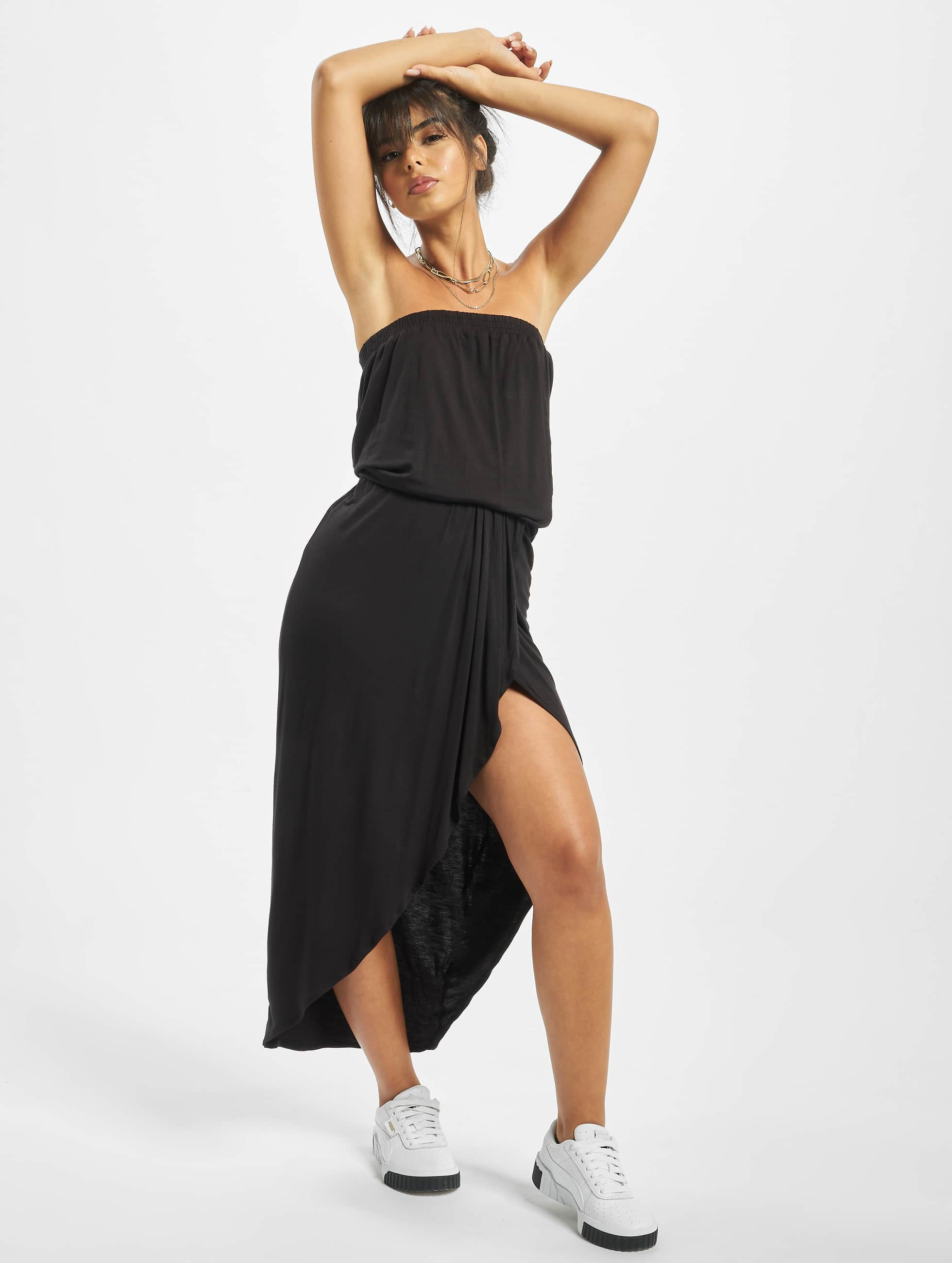 Urban Classics / Robe Ladies Viscose Bandeau en noir