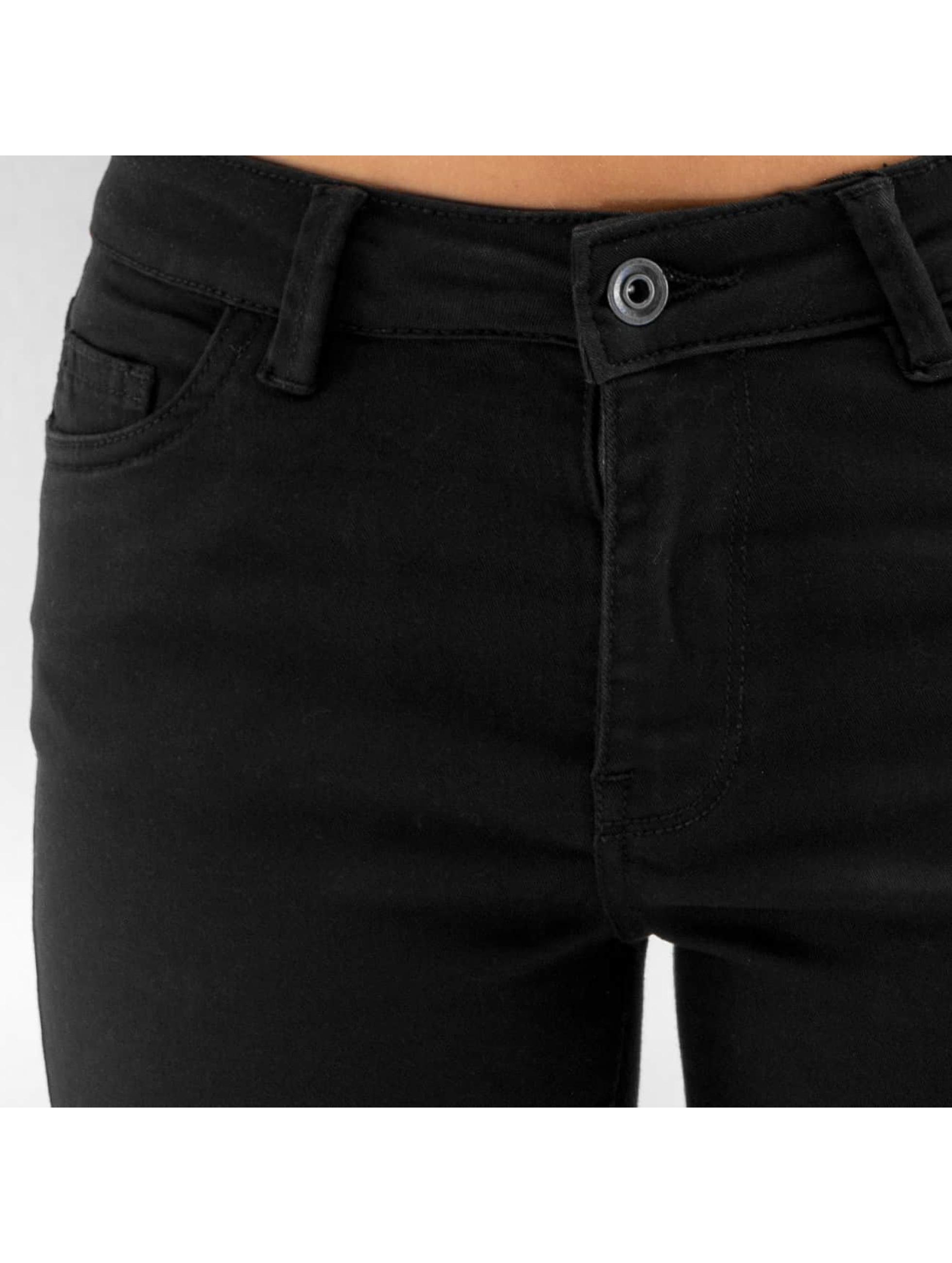 Urban Classics Rovné Ladies Cut Knee èierna