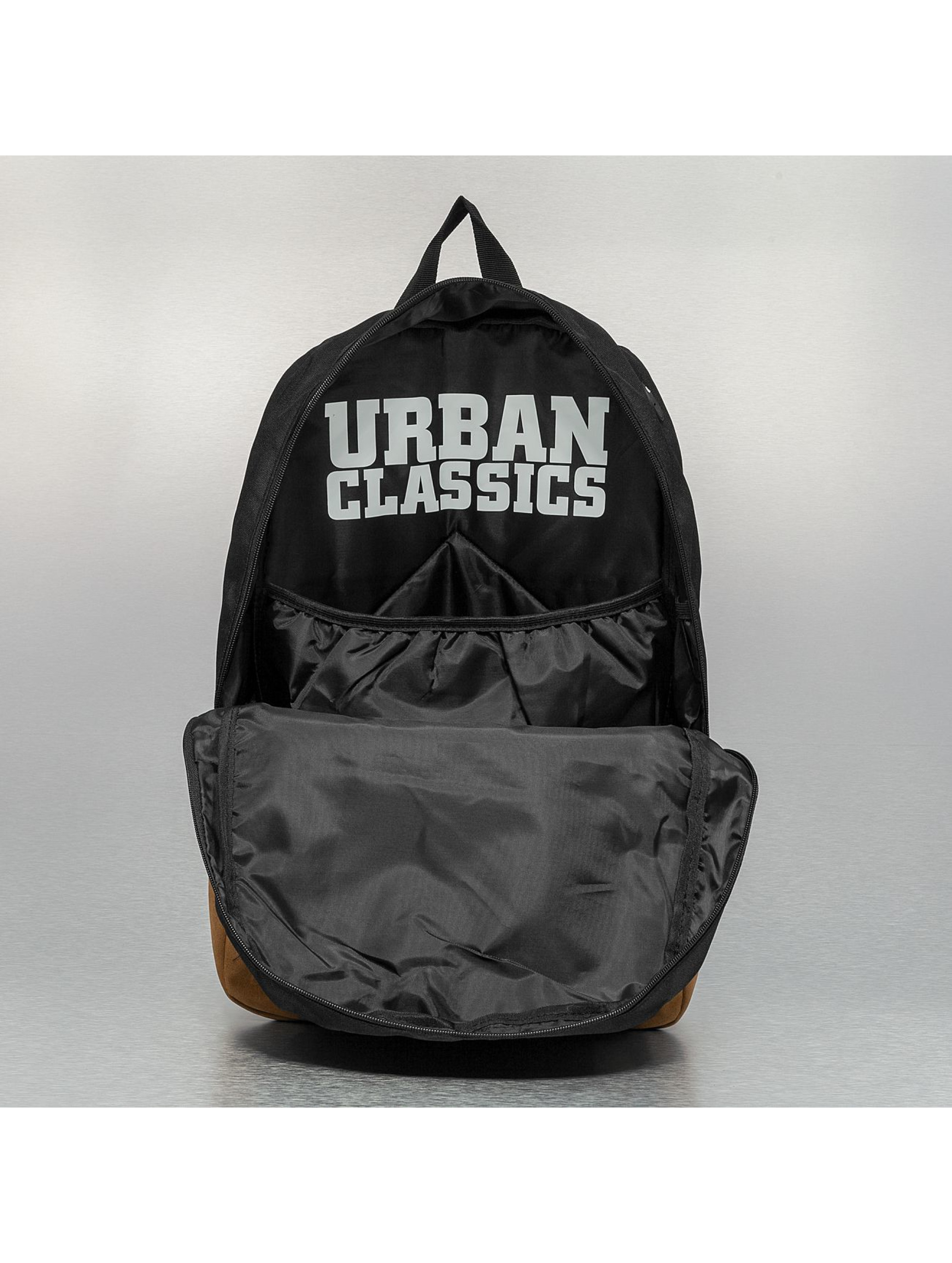 Urban Classics rugzak Leather Imitation zwart