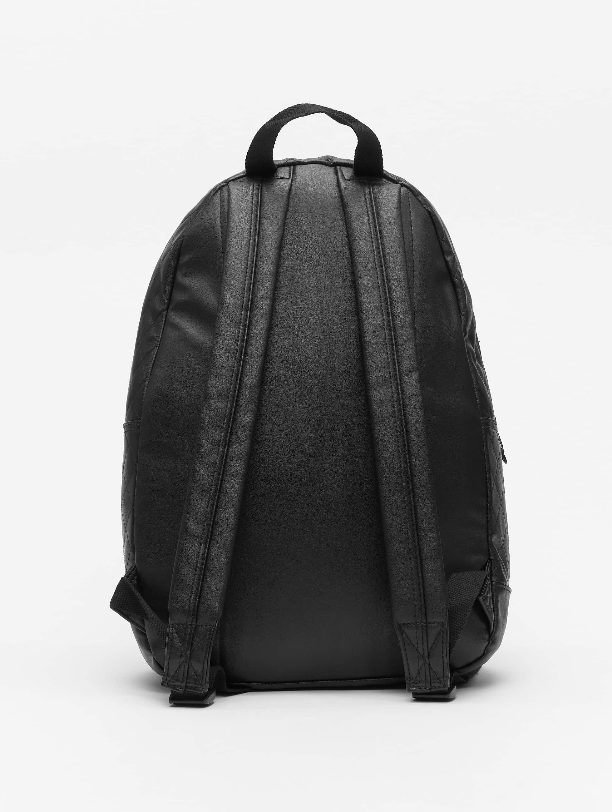 Urban Classics Sac à Dos Diamond Quilt Leather Imitation noir