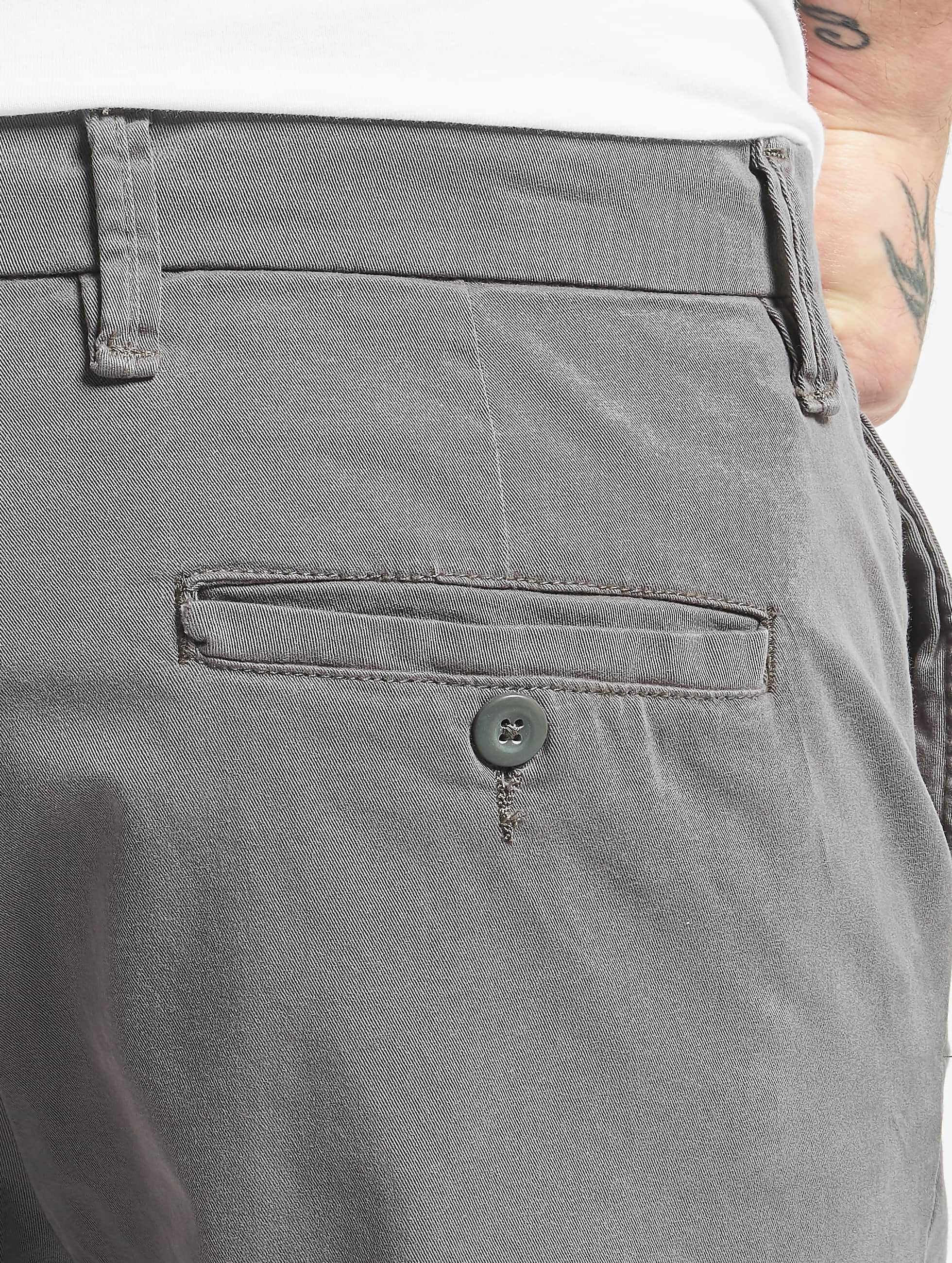 Urban Classics Short Stretch Turnup Chino grey