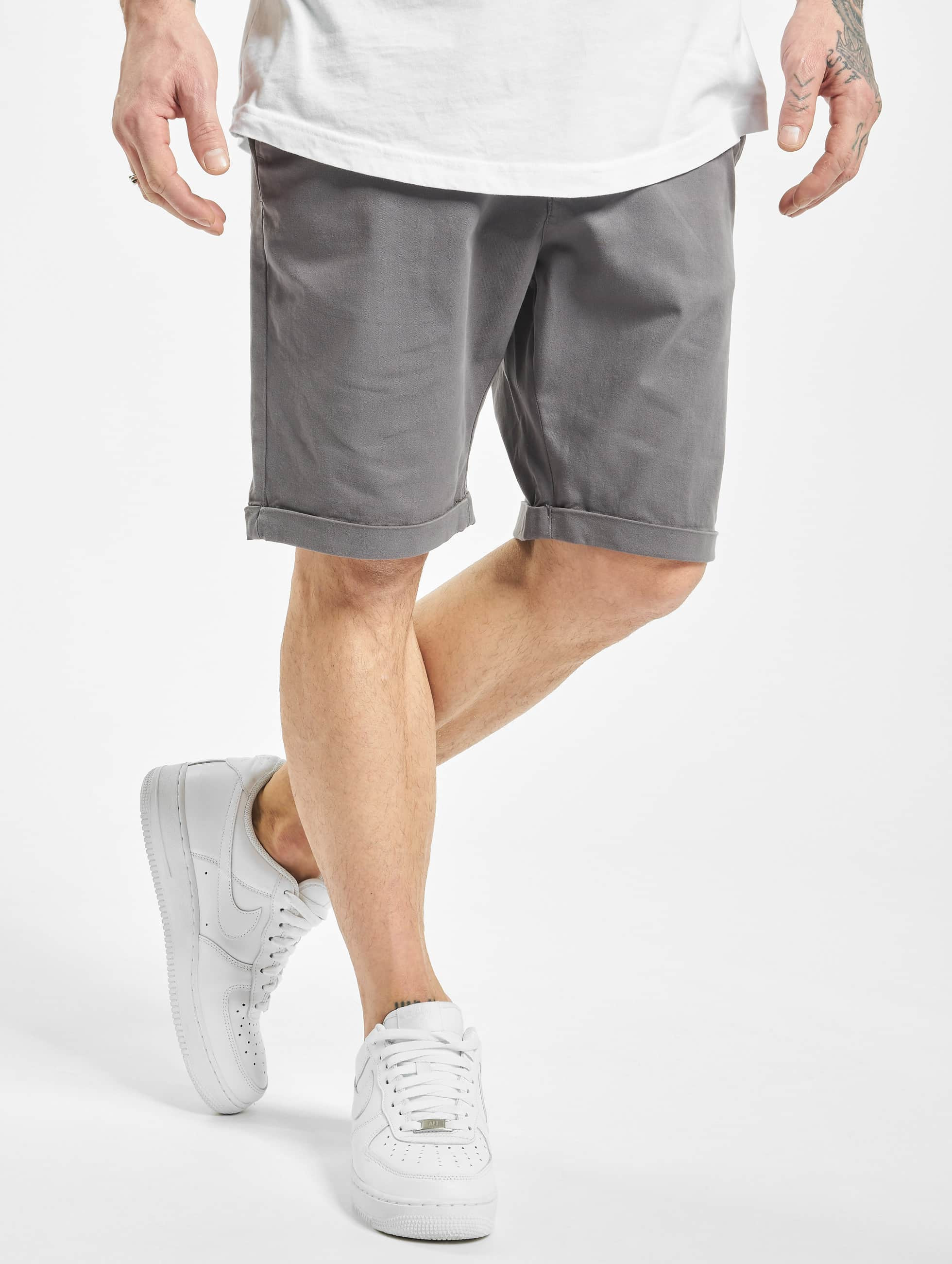 Urban Classics Shorts Stretch Turnup Chino grau