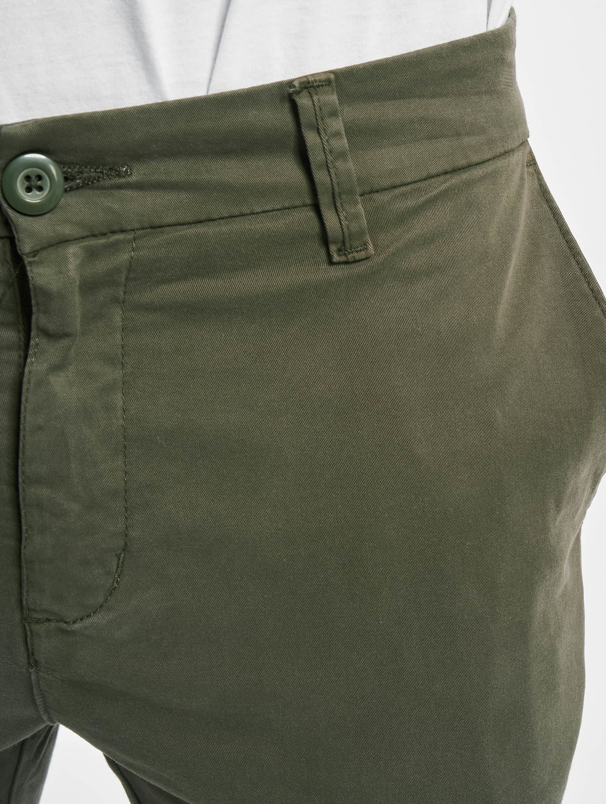 urban classics herren shorts stretch turnup chino in olive. Black Bedroom Furniture Sets. Home Design Ideas