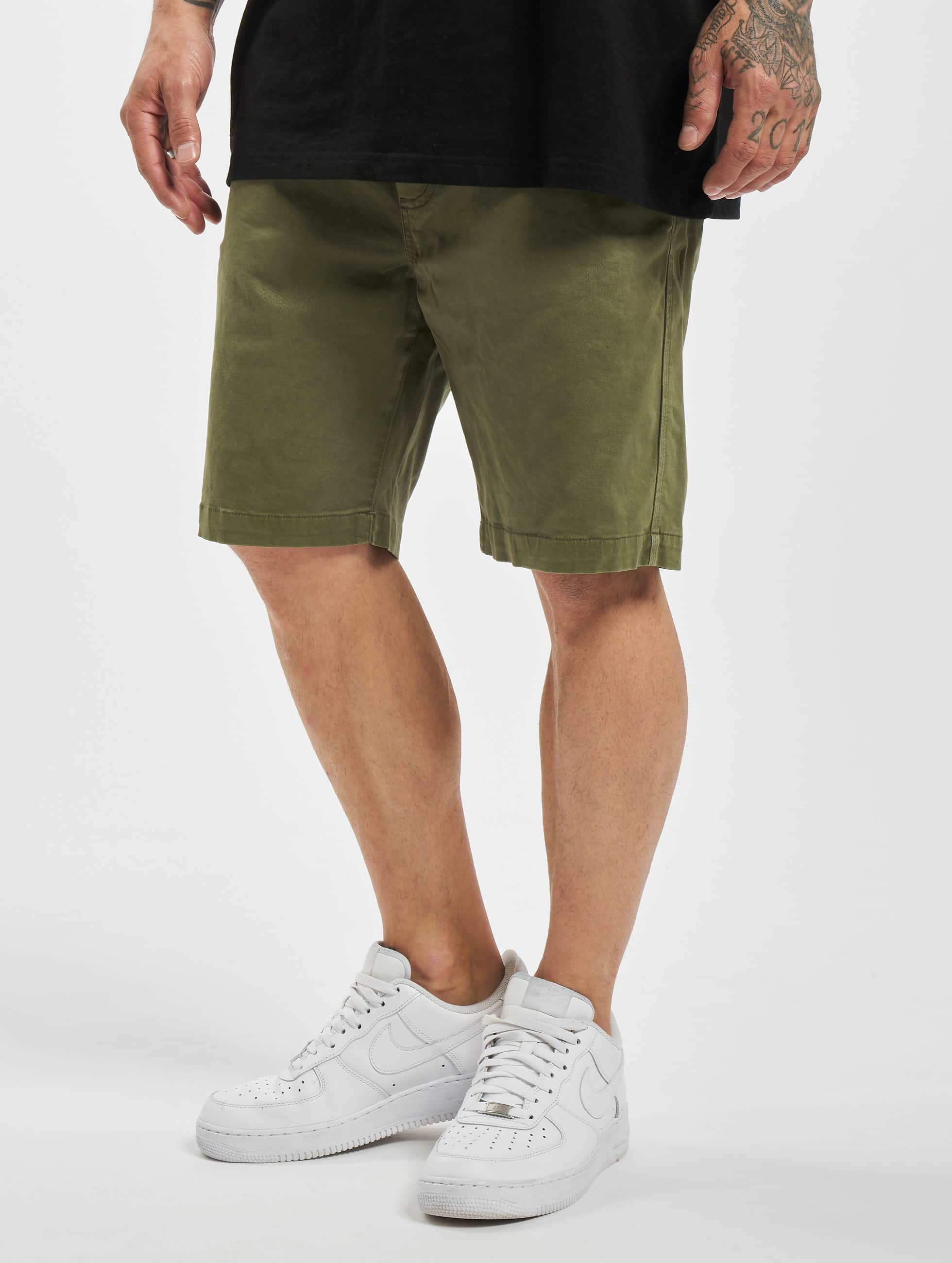 urban classics herren shorts hobart stretch twill in olive. Black Bedroom Furniture Sets. Home Design Ideas