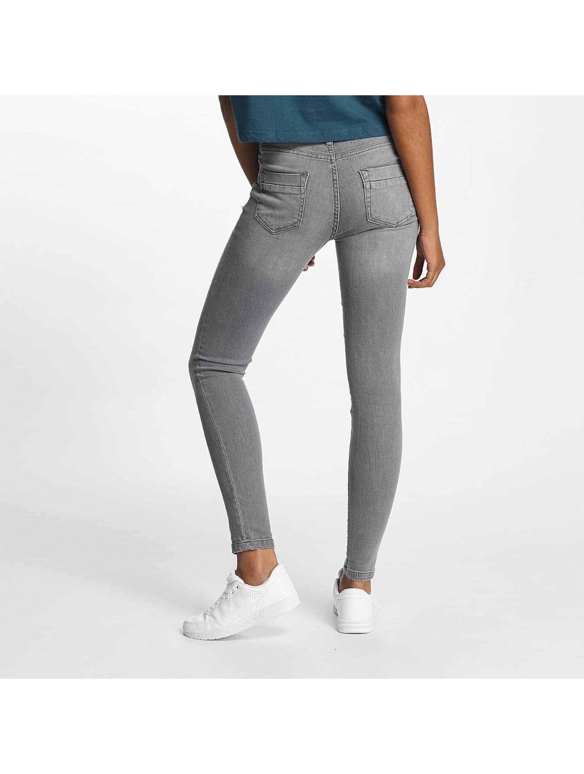 Urban Classics Skinny Jeans Skinny Denim šedá
