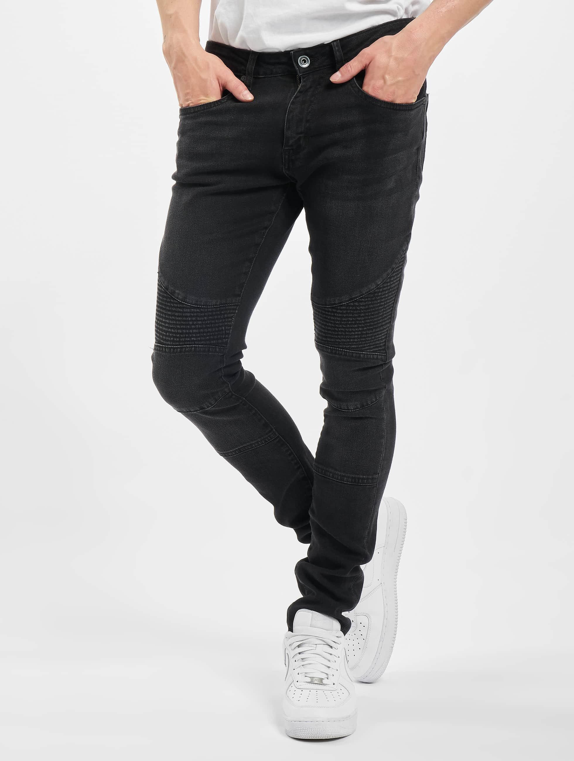 Urban Classics Skinny Jeans Slim Fit Biker black