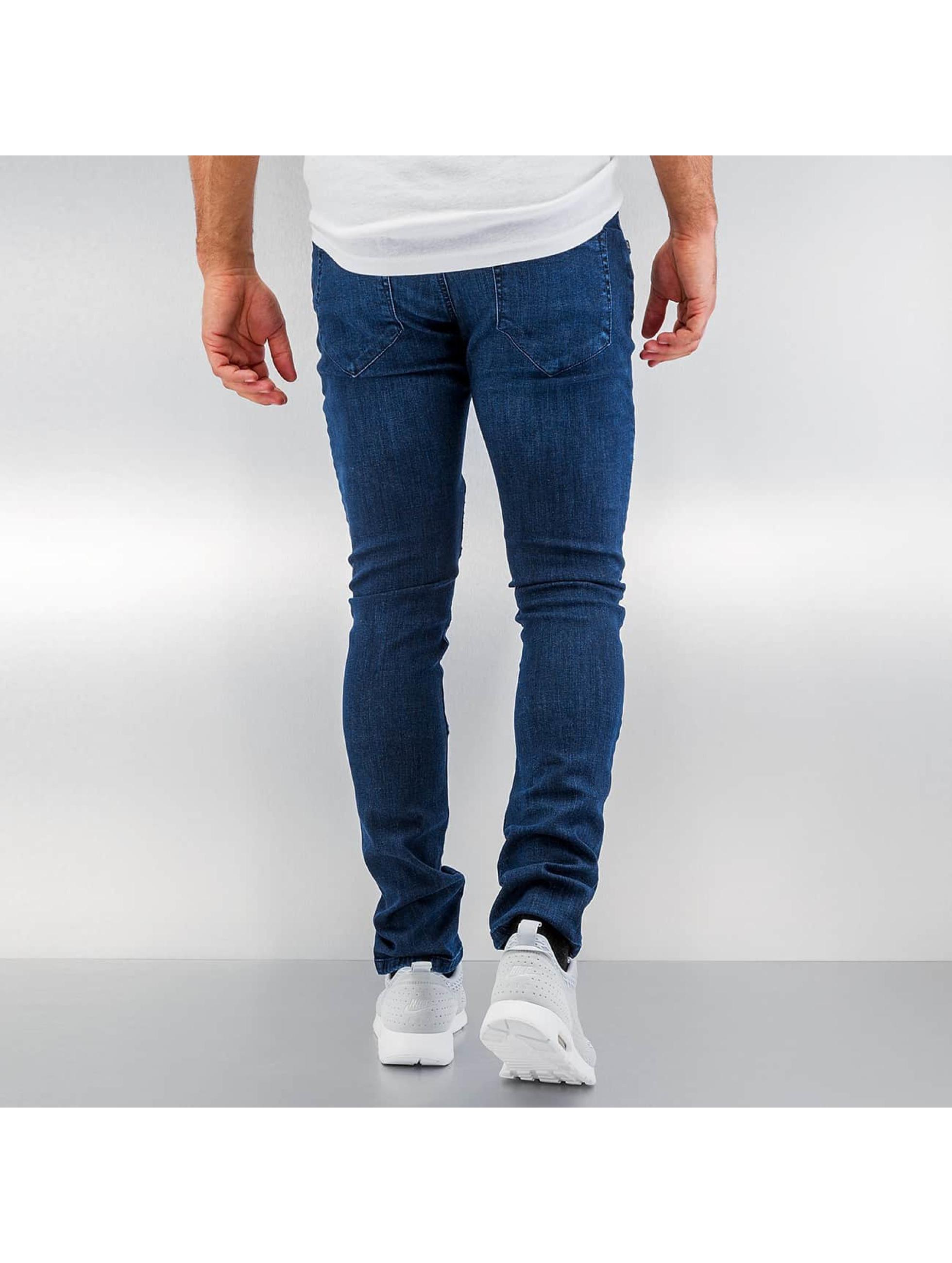 Urban Classics Skinny jeans Slim Fit Biker blauw