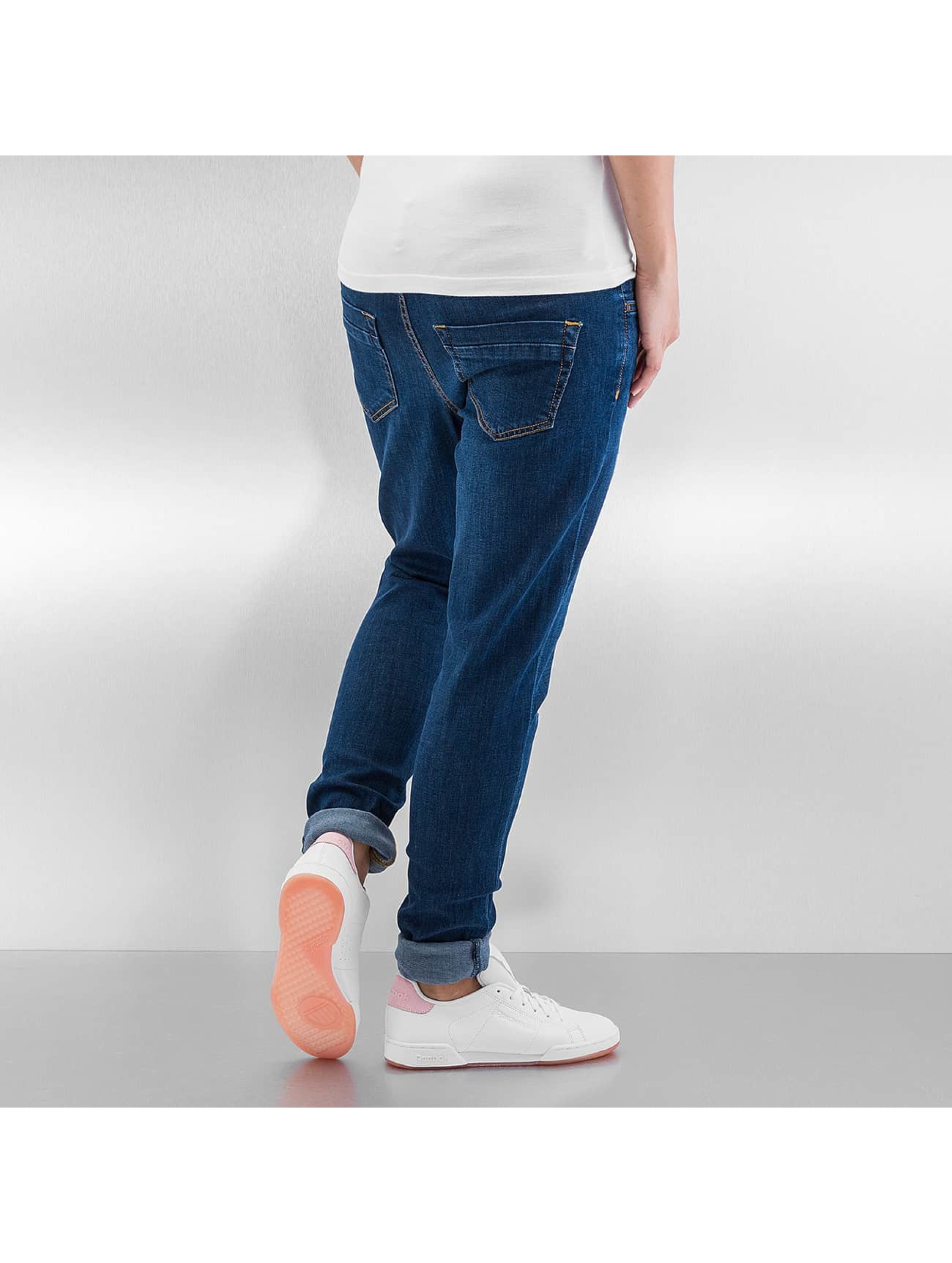 Urban Classics Skinny Jeans Ripped Denim blue