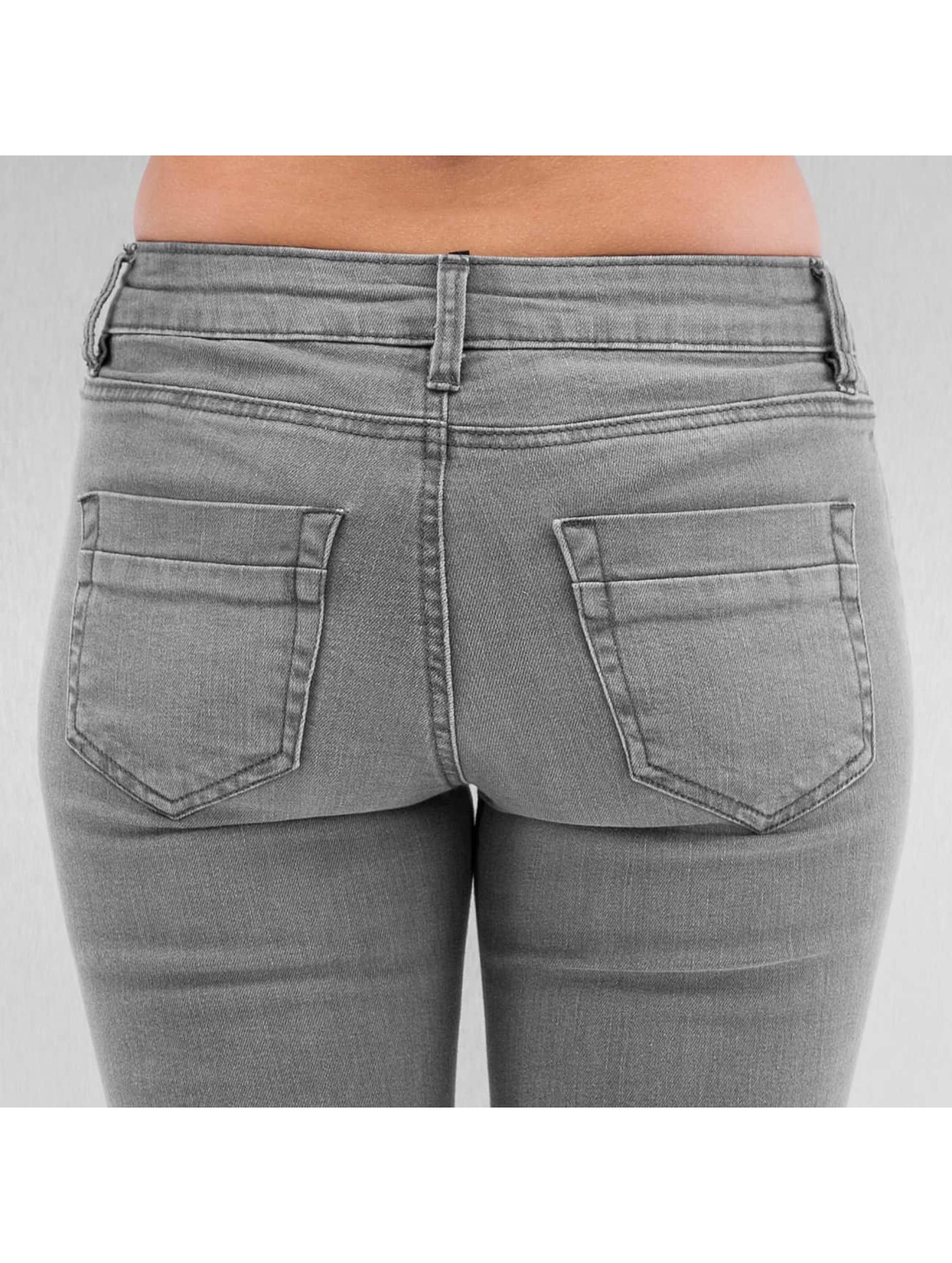 Urban Classics Skinny Jeans Ripped Denim grey