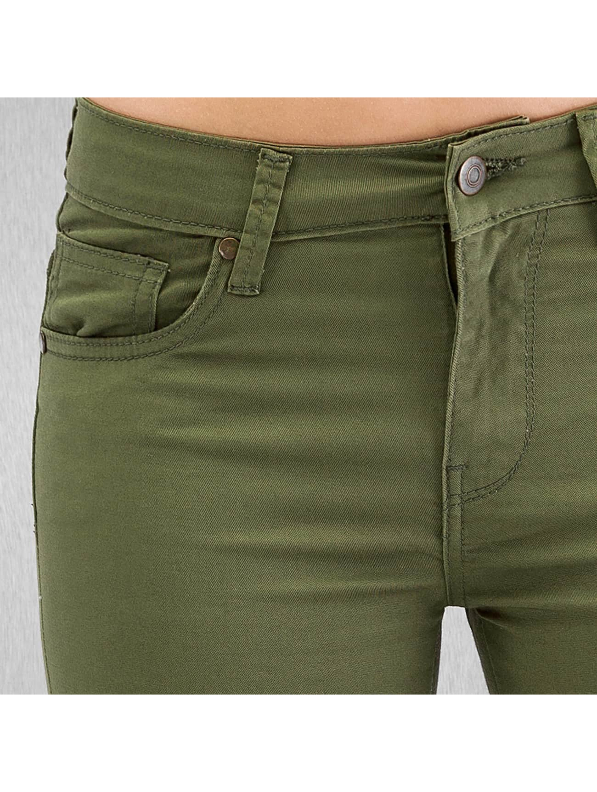 Urban Classics Skinny jeans Ladies olijfgroen