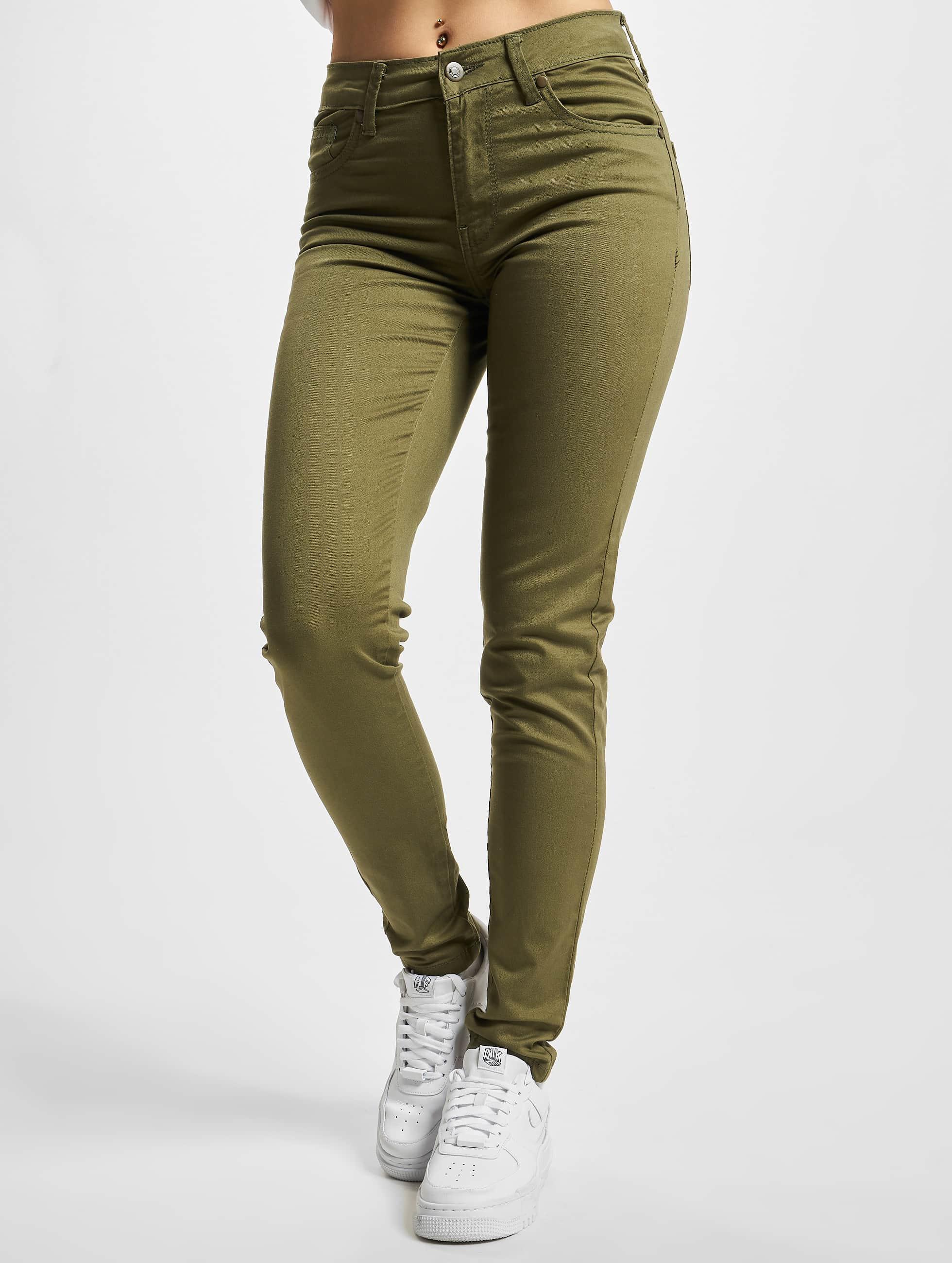 Urban Classics Skinny Jeans Ladies olive