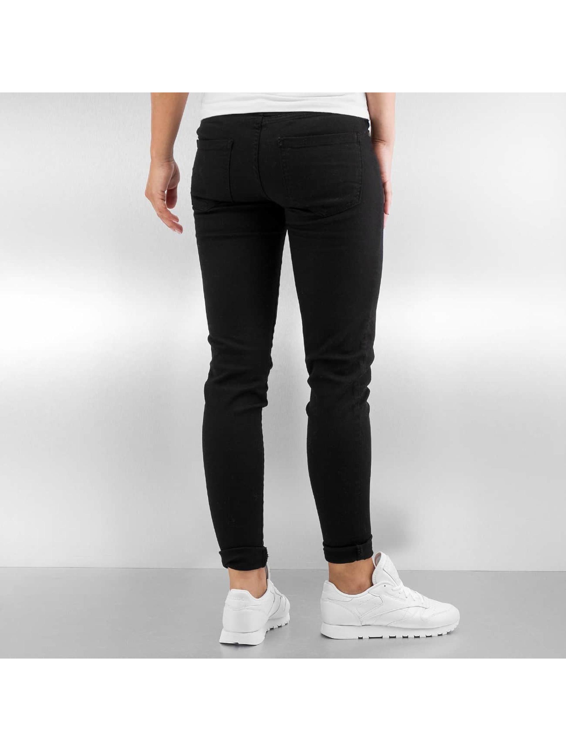 Urban Classics Skinny Jeans Ladies schwarz