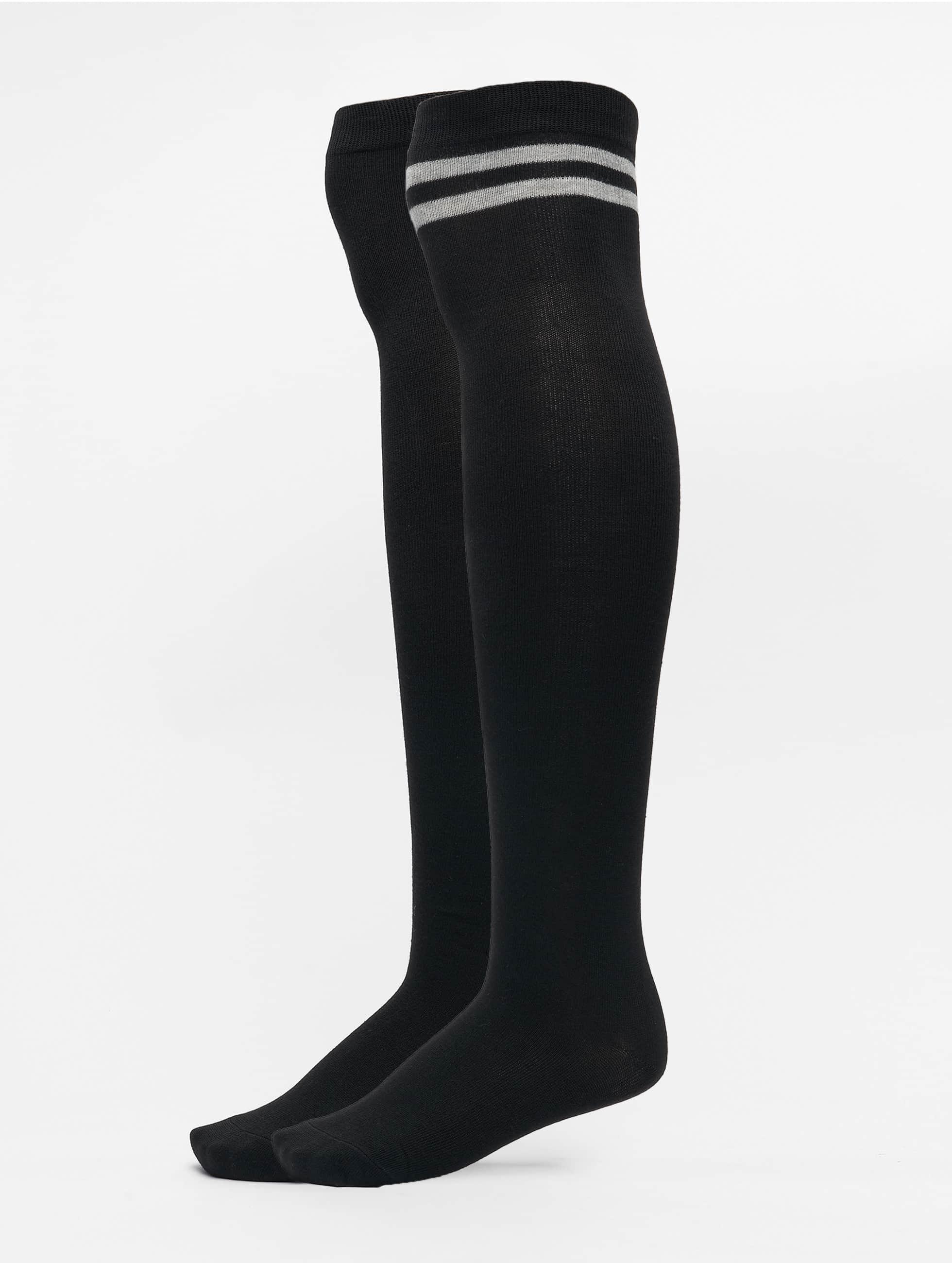 Socken Overknee in schwarz