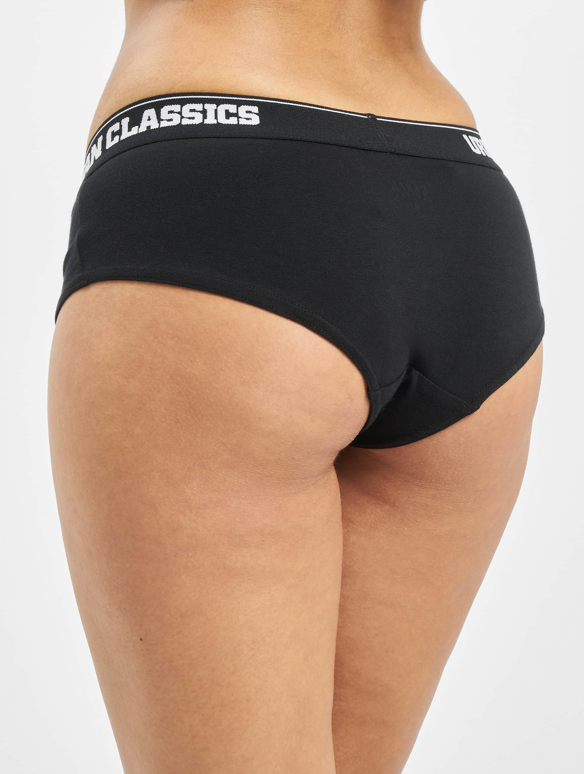 Urban Classics Spodná bielizeň Ladies Double Pack Logo èierna