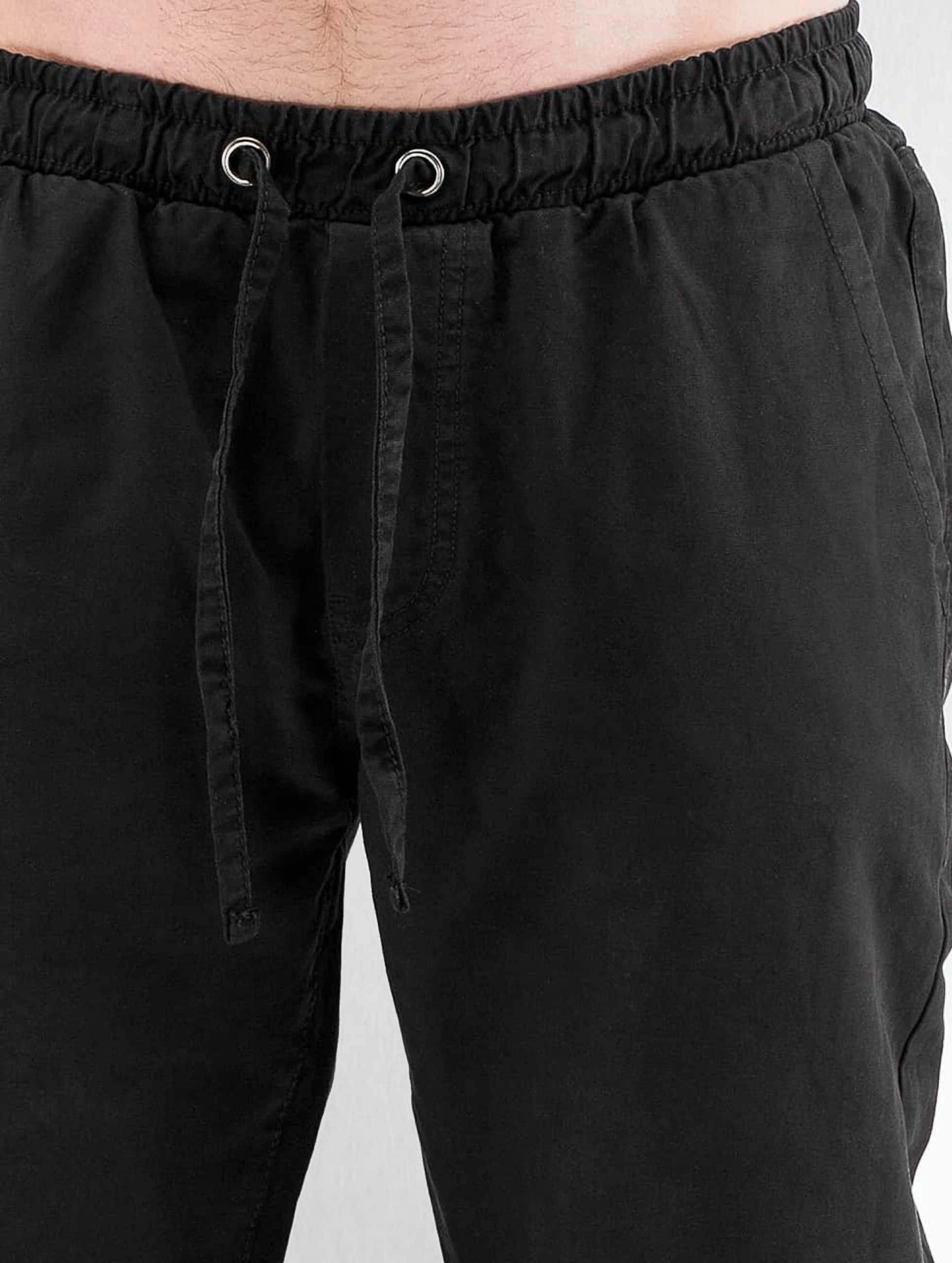 Urban Classics Spodnie do joggingu Washed Canvas czarny