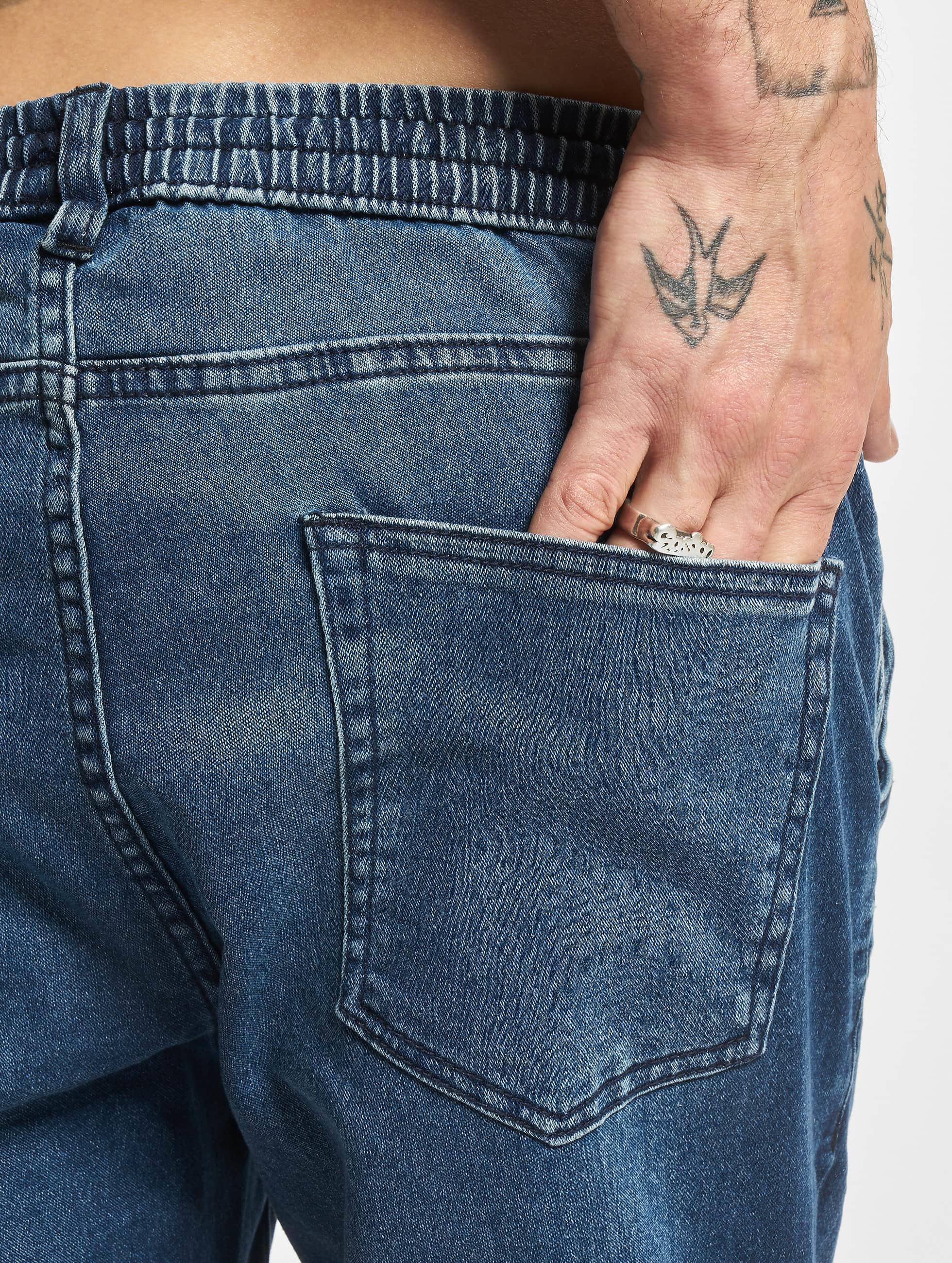 Urban Classics Spodnie do joggingu Knitted Denim niebieski