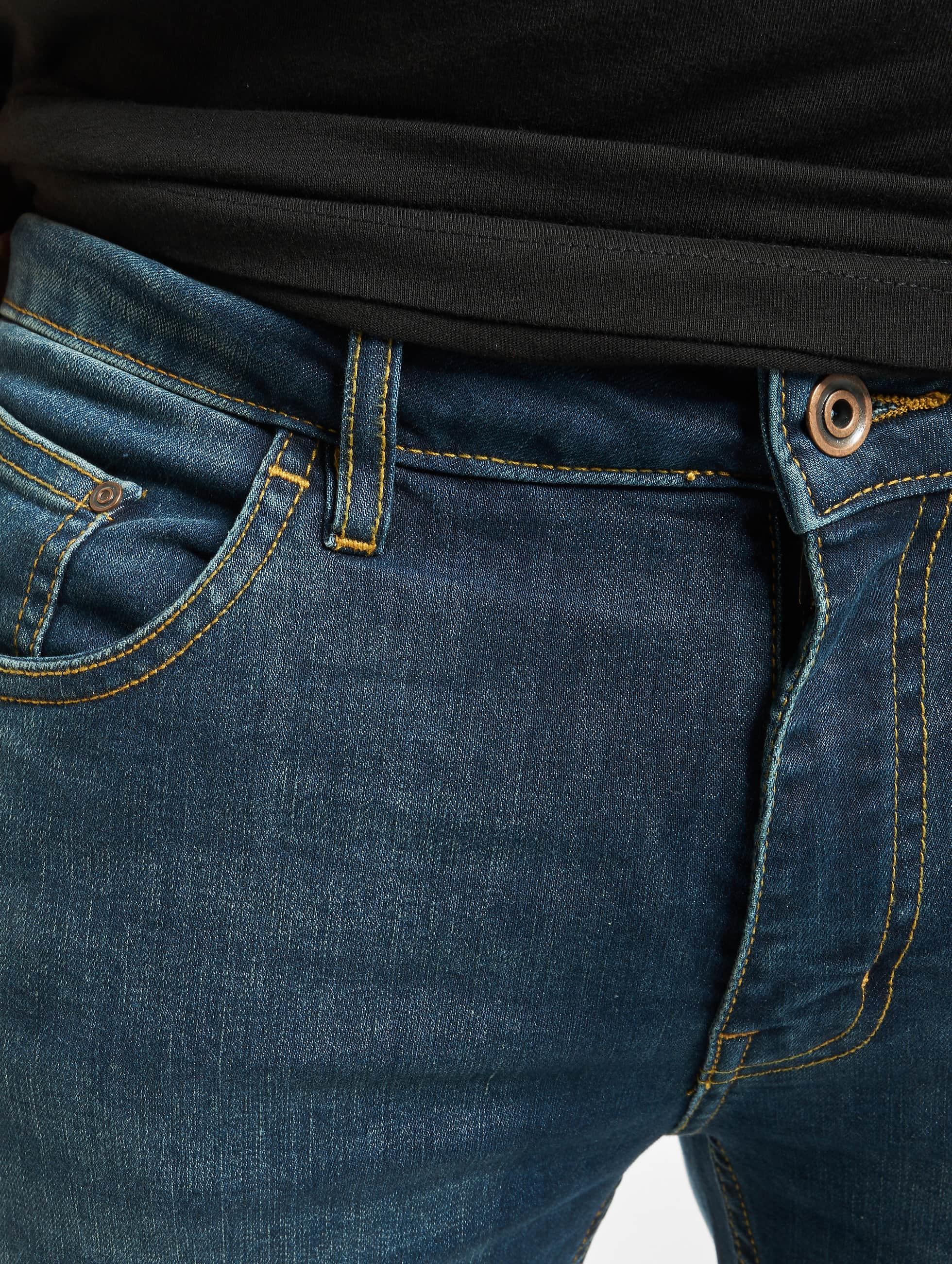 Urban Classics Straight Fit Jeans Stretch Denim blå