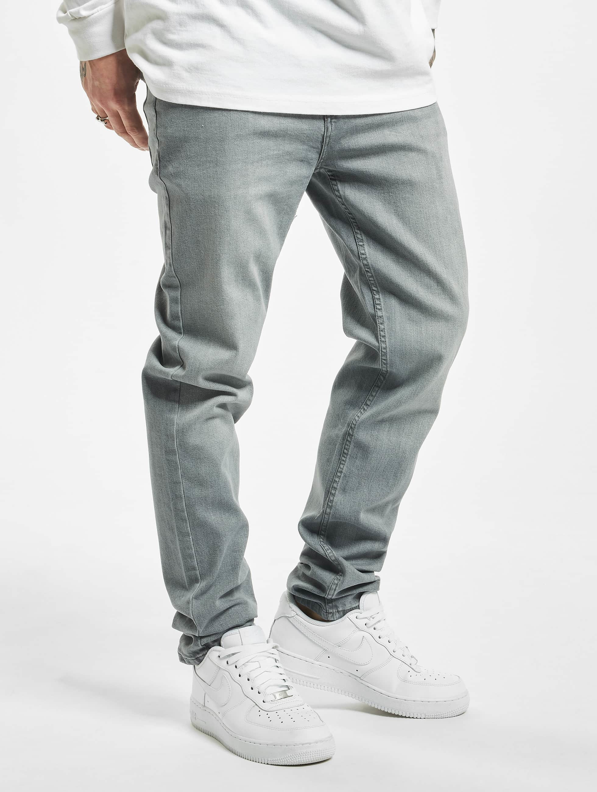 Urban Classics Straight Fit Jeans Stretch Denim grau
