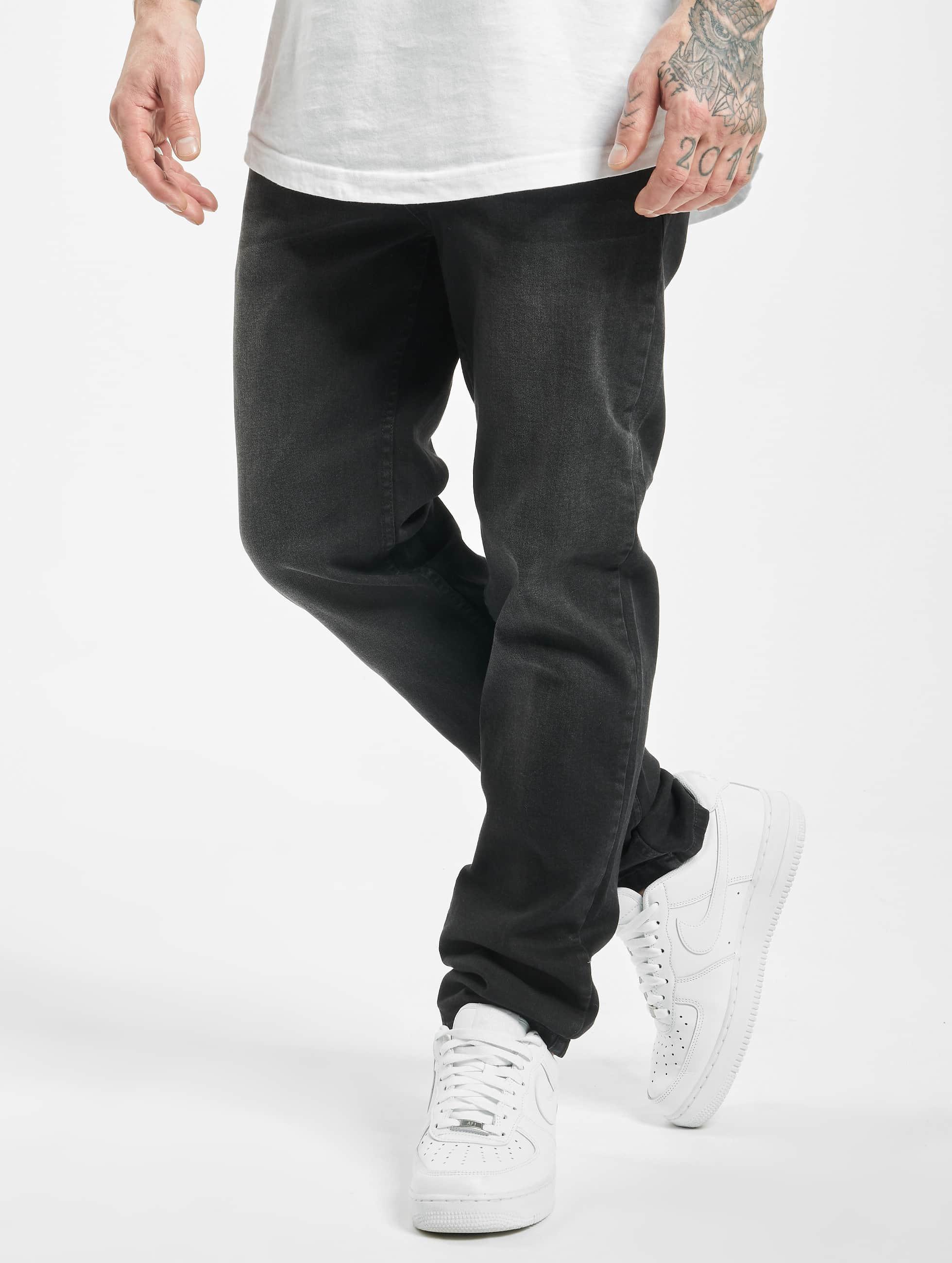 Urban Classics Straight fit jeans Stretch Denim zwart