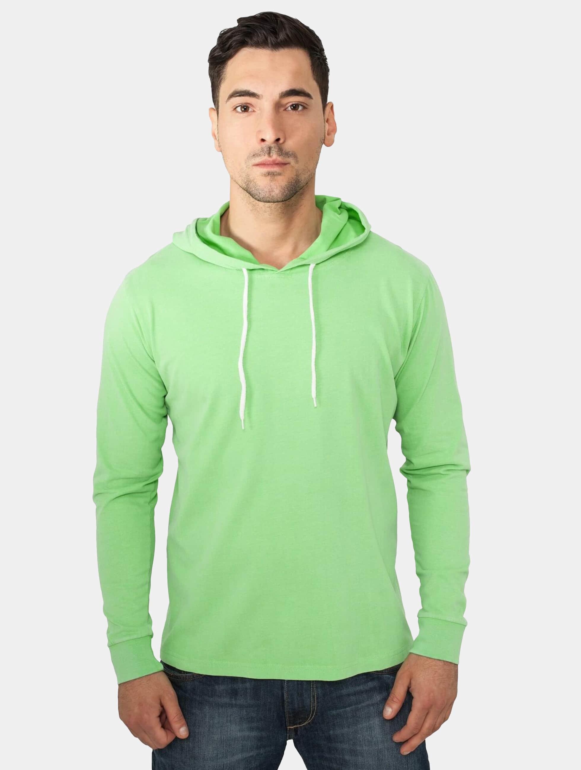 Urban Classics Haut / Sweat à capuche Heavy Peached en vert