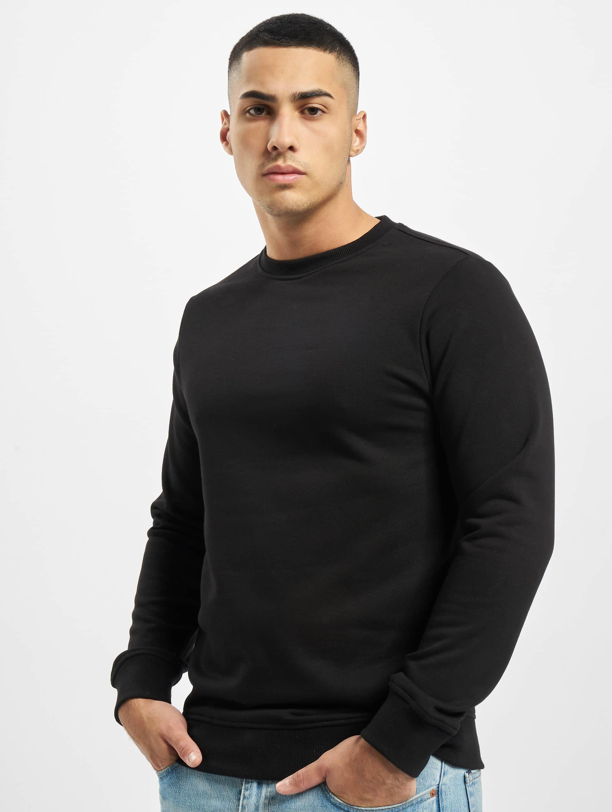 Urban Classics Basic Terry Crew Sweatshirt Black
