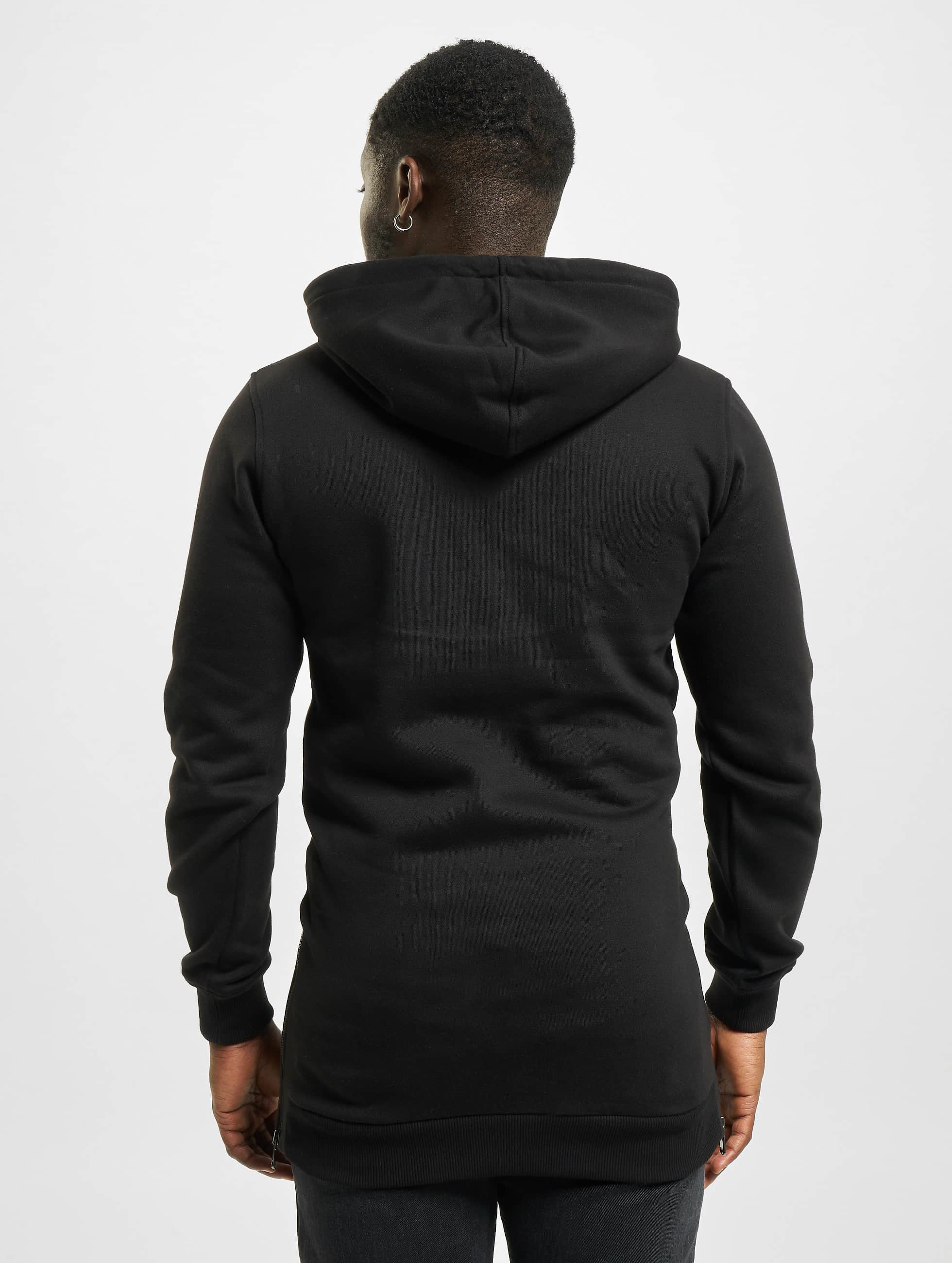 Urban Classics Sweat capuche Long Side noir