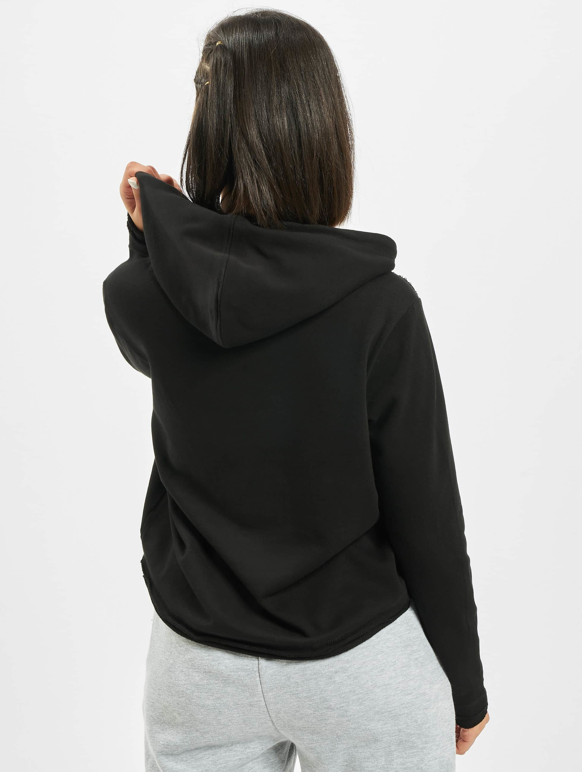 Urban Classics Sweat capuche Cropped Terry noir