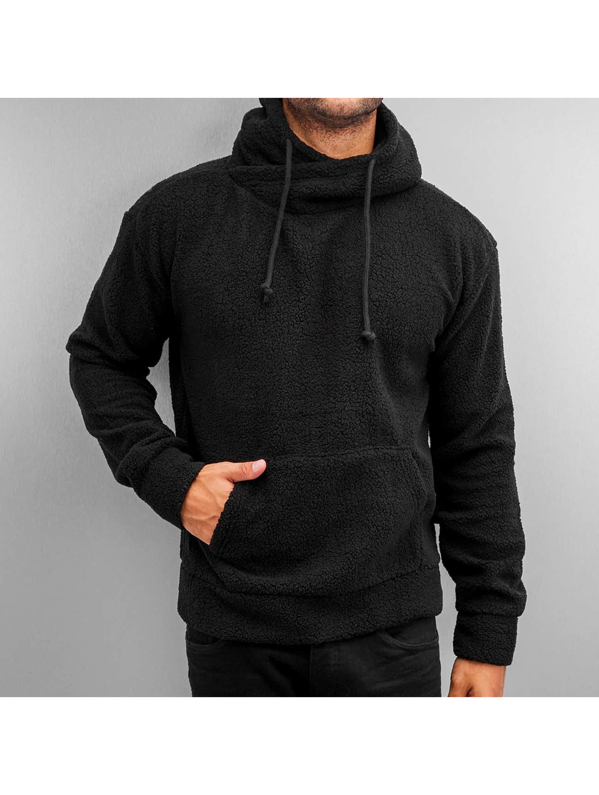Urban Classics Sweat capuche Sherpa High Neck noir