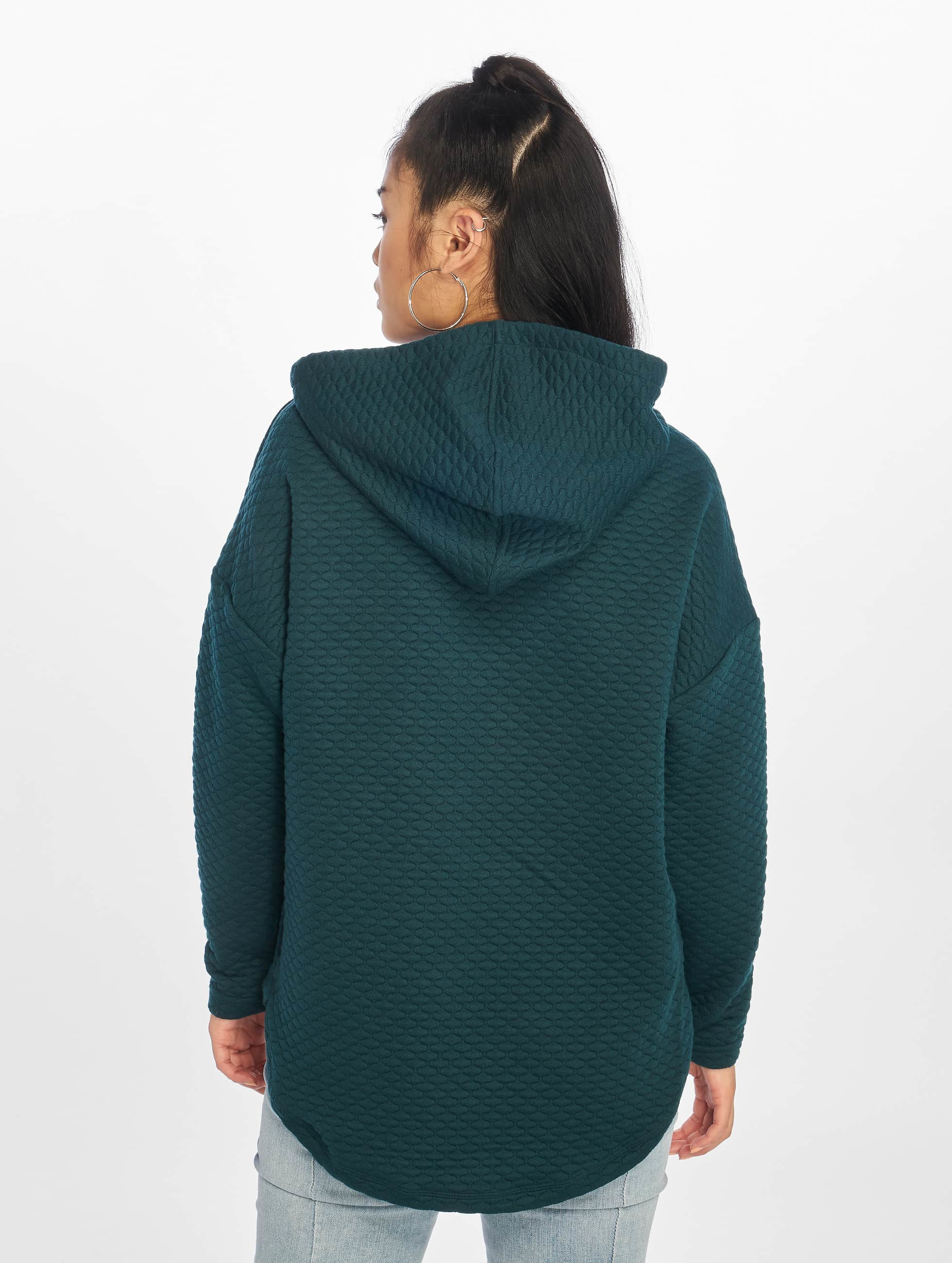 Urban Classics Sweat capuche Quilt Oversize vert
