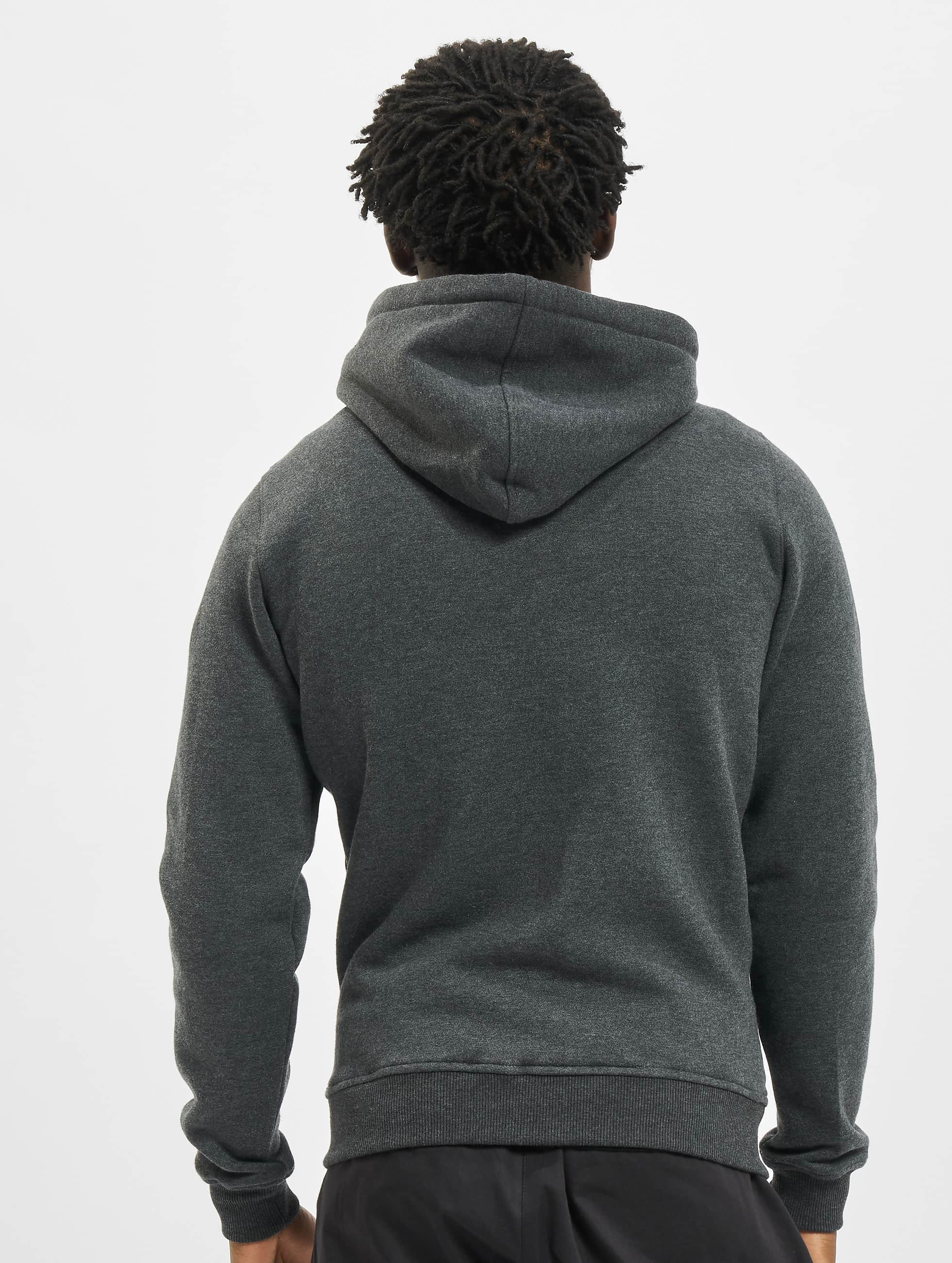 Urban Classics Sweat capuche zippé Relaxed gris