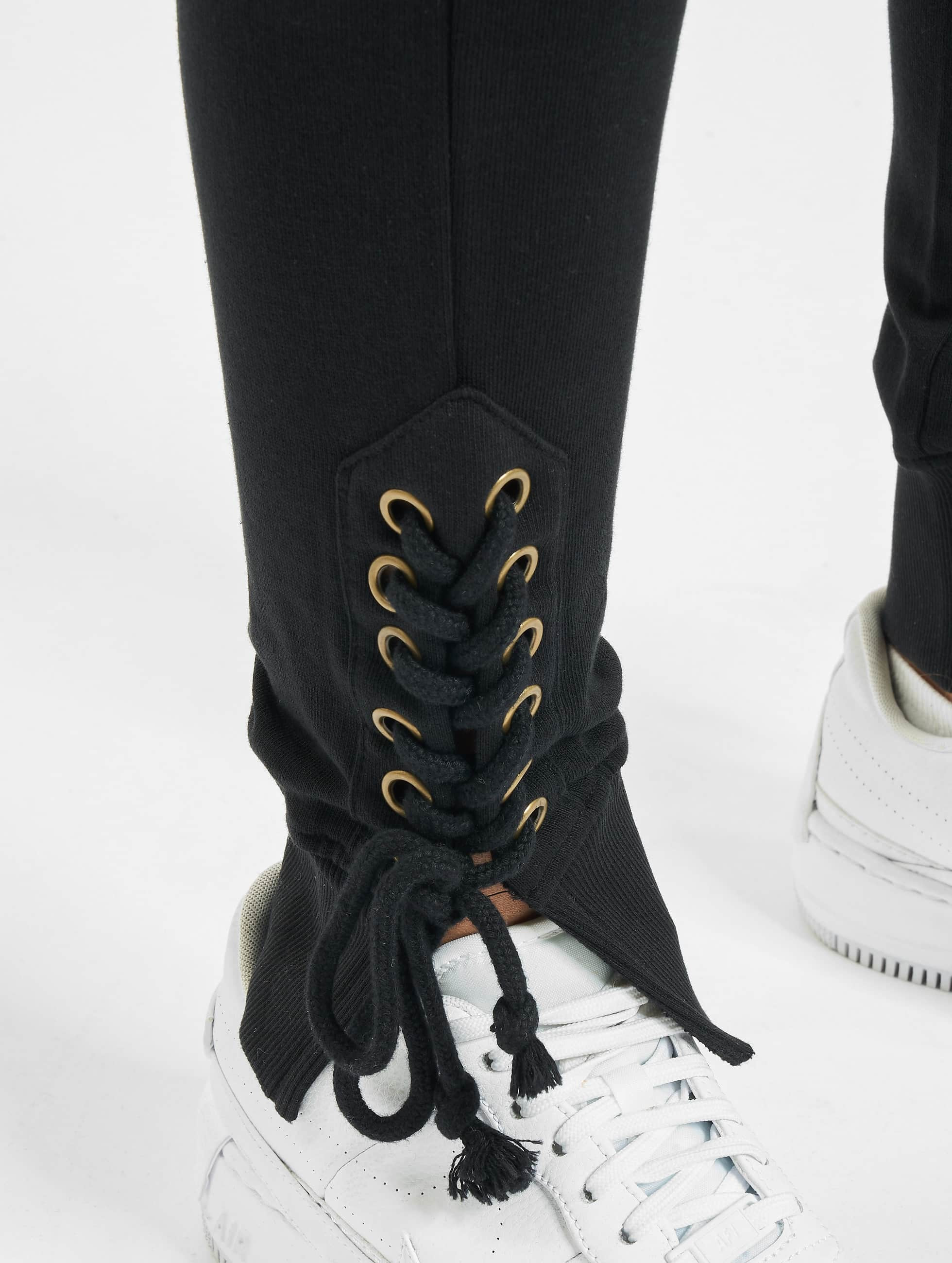 Urban Classics Sweat Pant Lace Up Fitted black