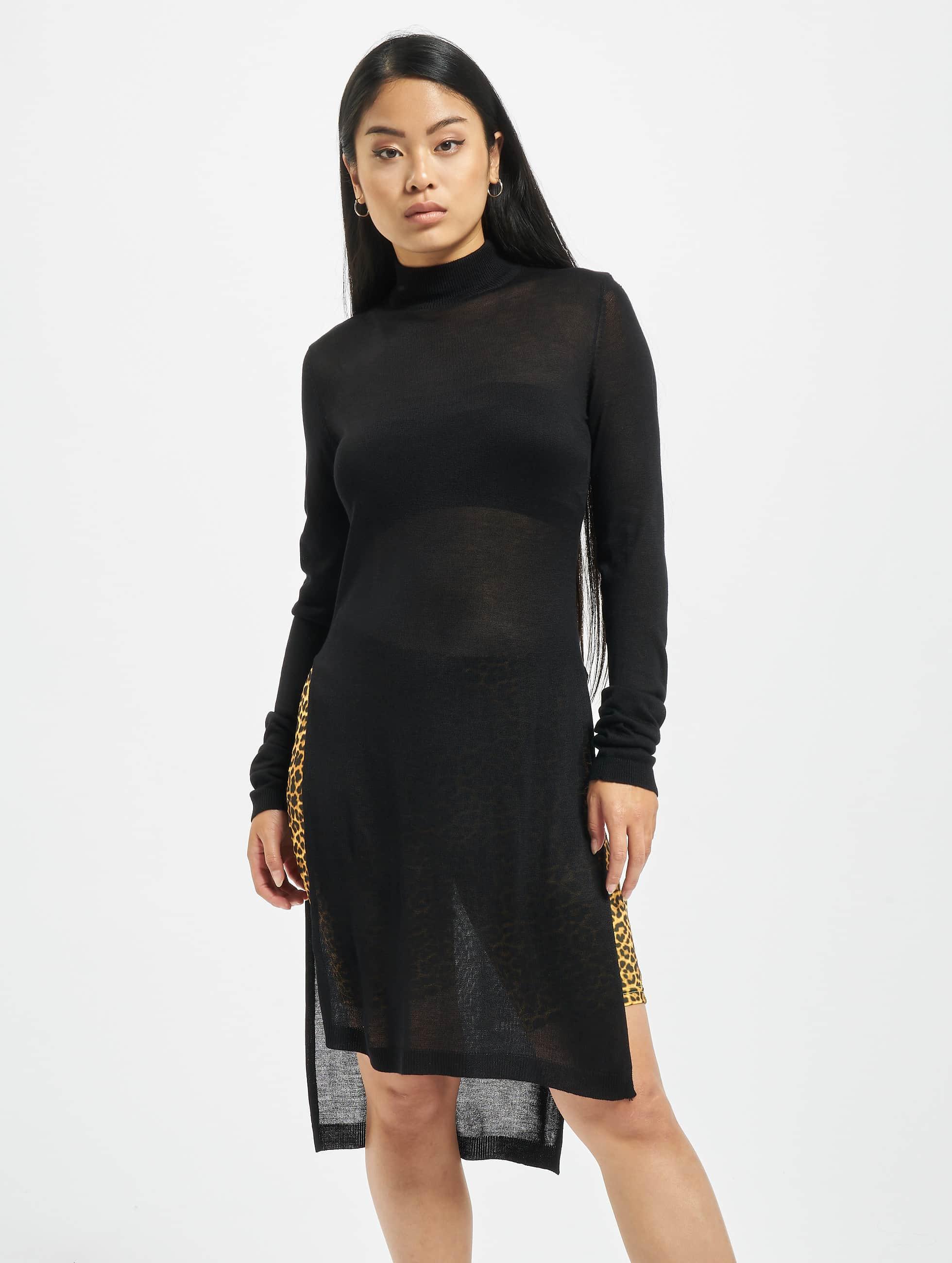 Urban Classics Swetry Urban Classics Ladies Fine Knit Turtleneck Long Shirt czarny